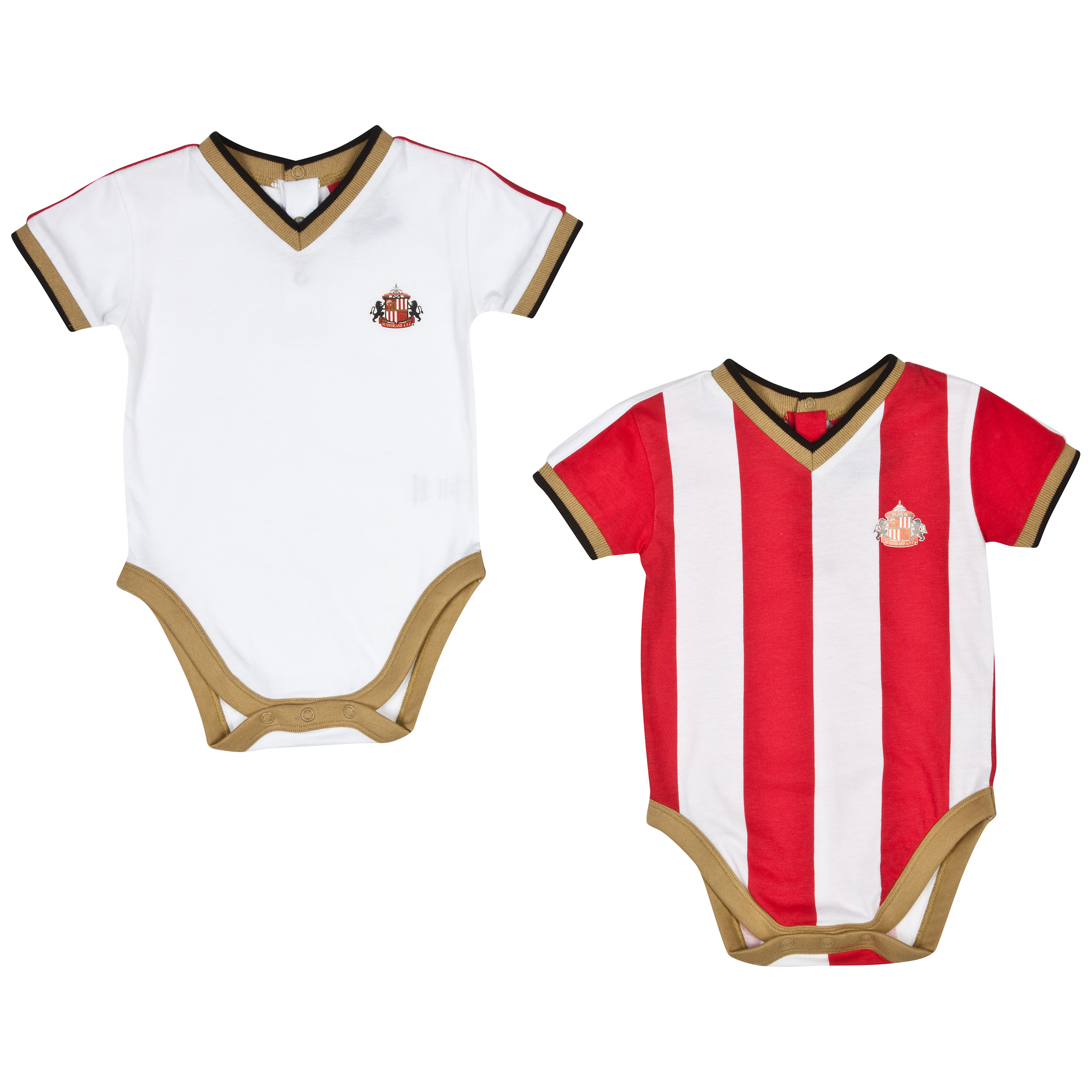 Sunderland 14/15 Kit 2PK Bodysuits - Red/White - Baby
