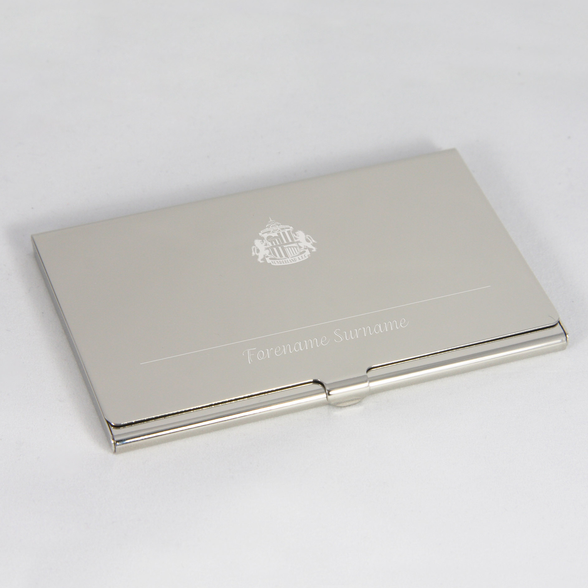 Sunderland Personalised Business Card Holder
