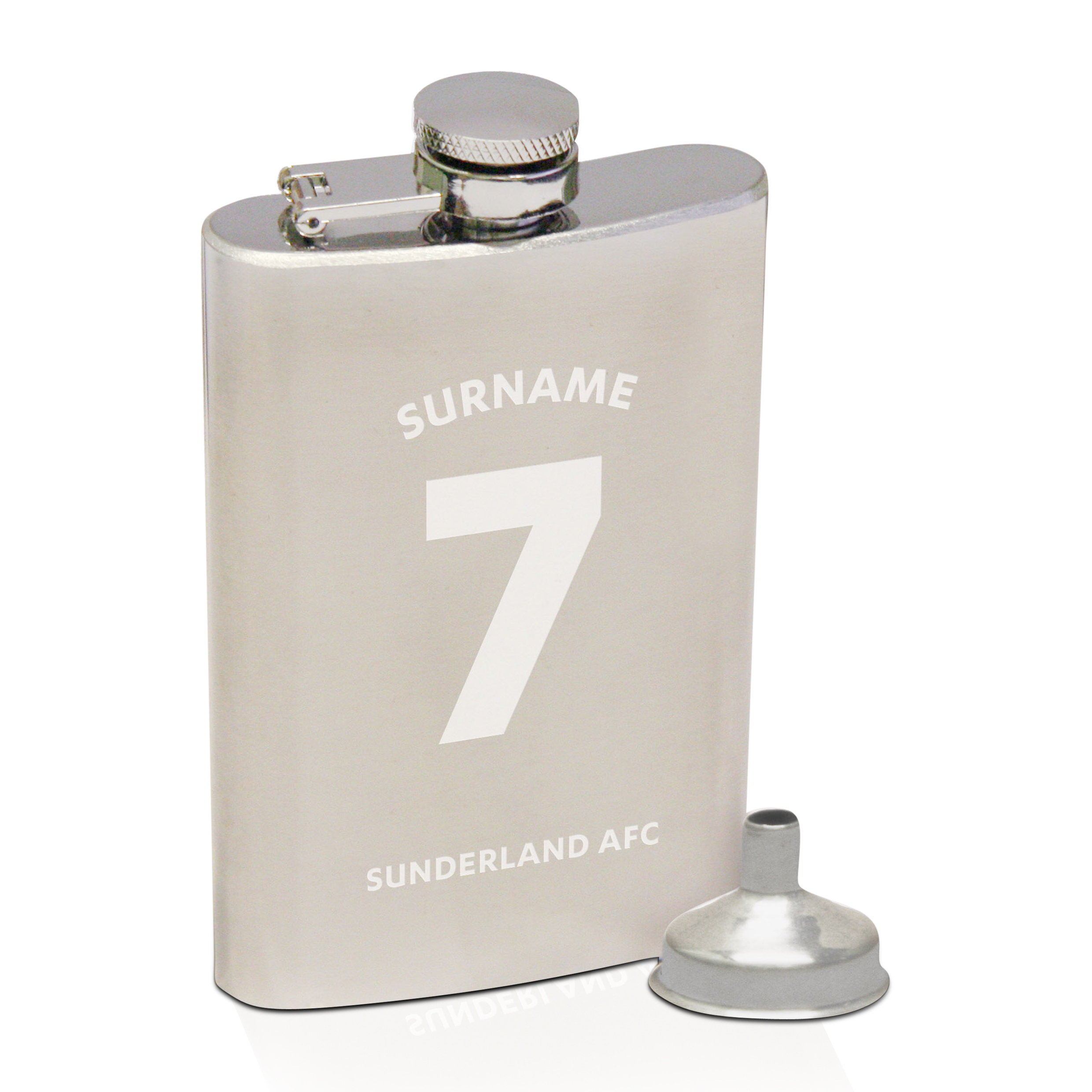 Sunderland Personalised Shirt Hip Flask 6oz
