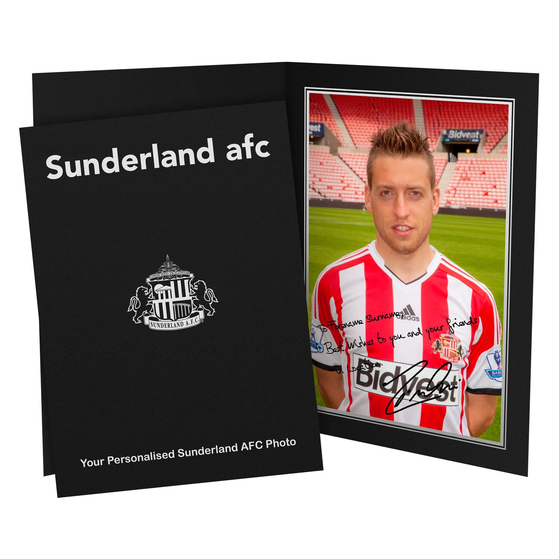 Sunderland Personalised Signature Photo in Presentation Folder - Giaccherini