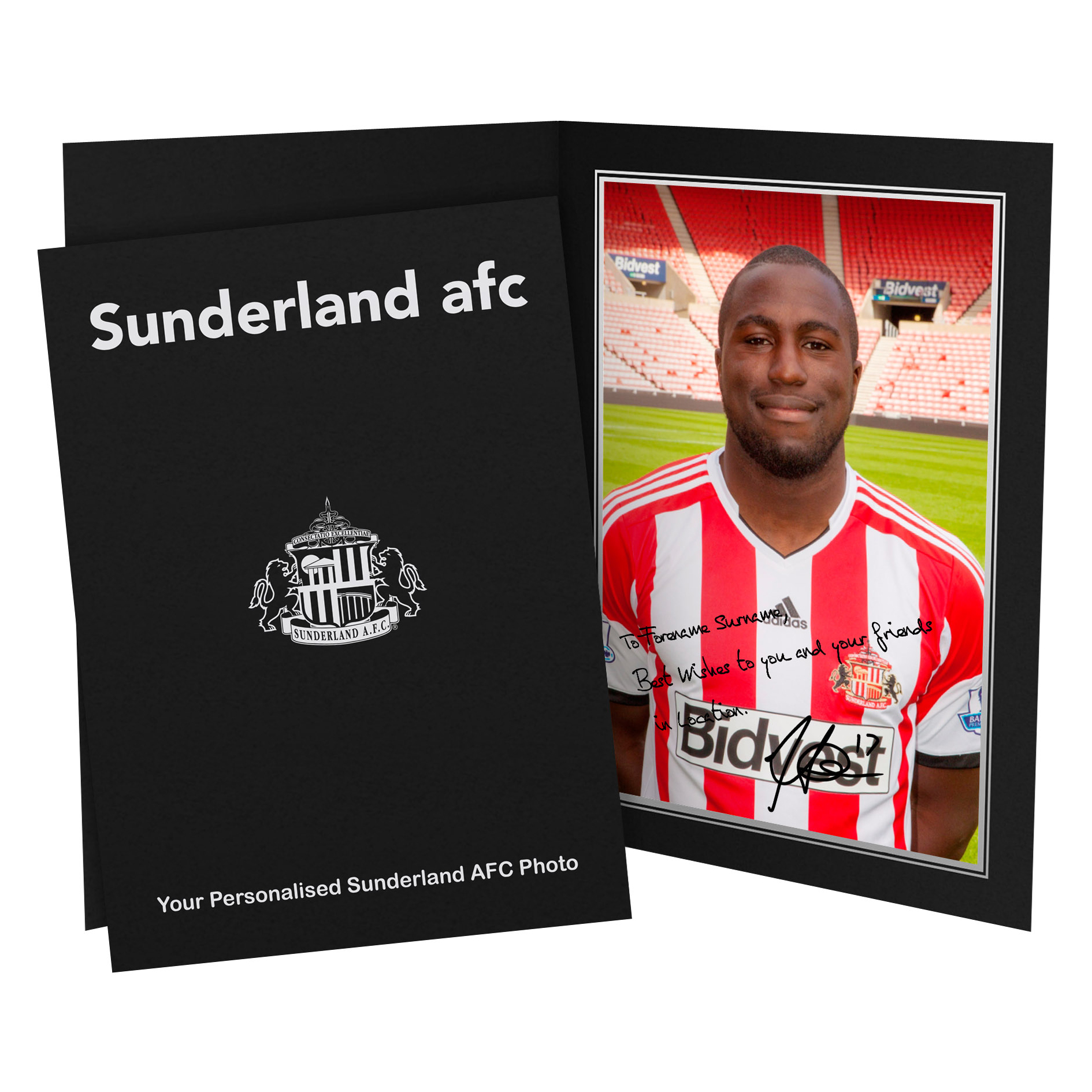 Sunderland Personalised Signature Photo in Presentation Folder - Altidore