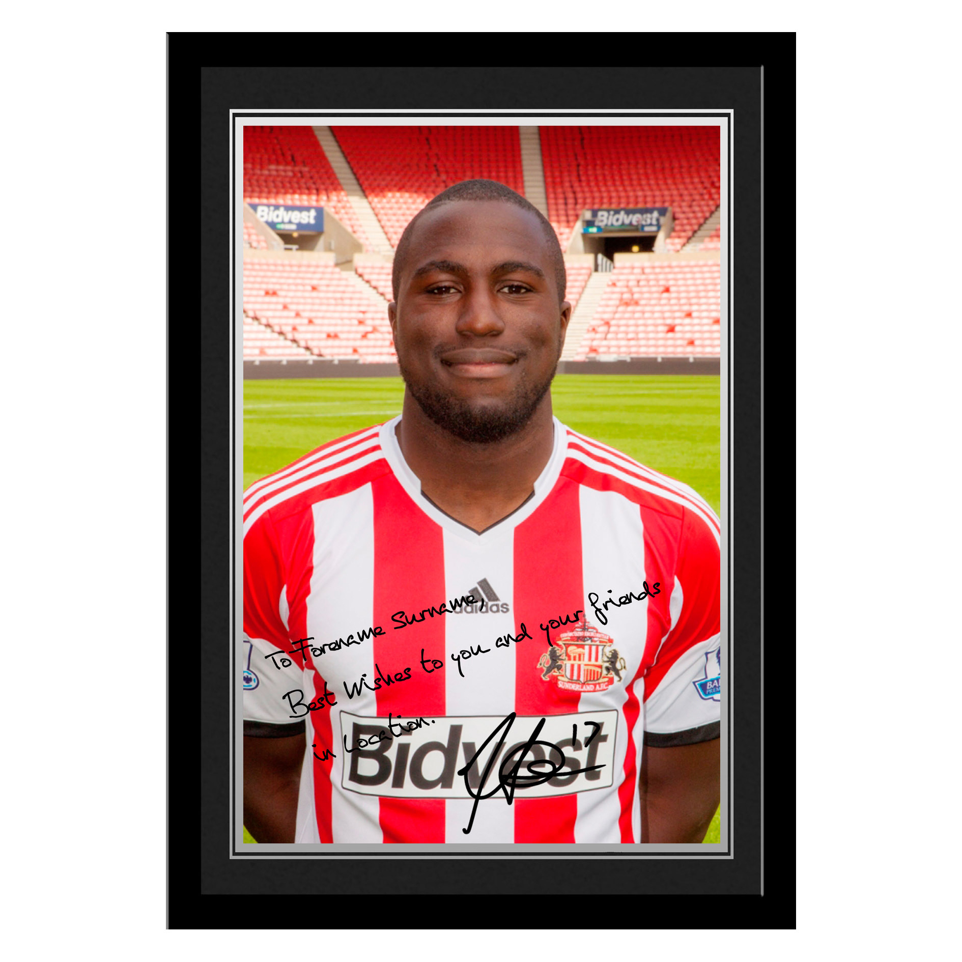 Sunderland Personalised Signature Photo Framed - Altidore