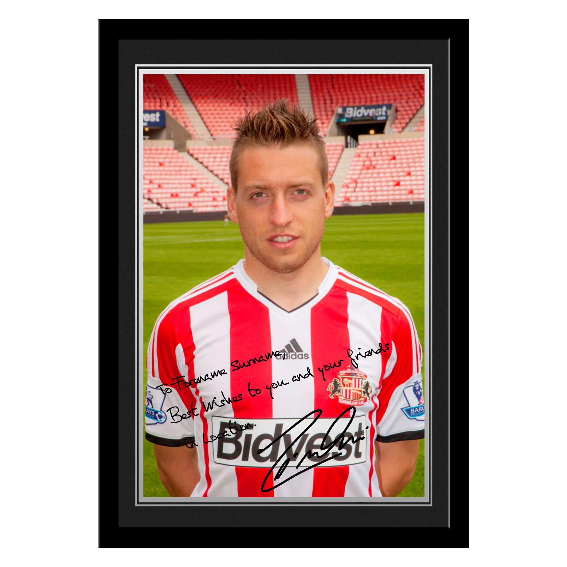 Sunderland Personalised Signature Photo Framed - Giaccherini