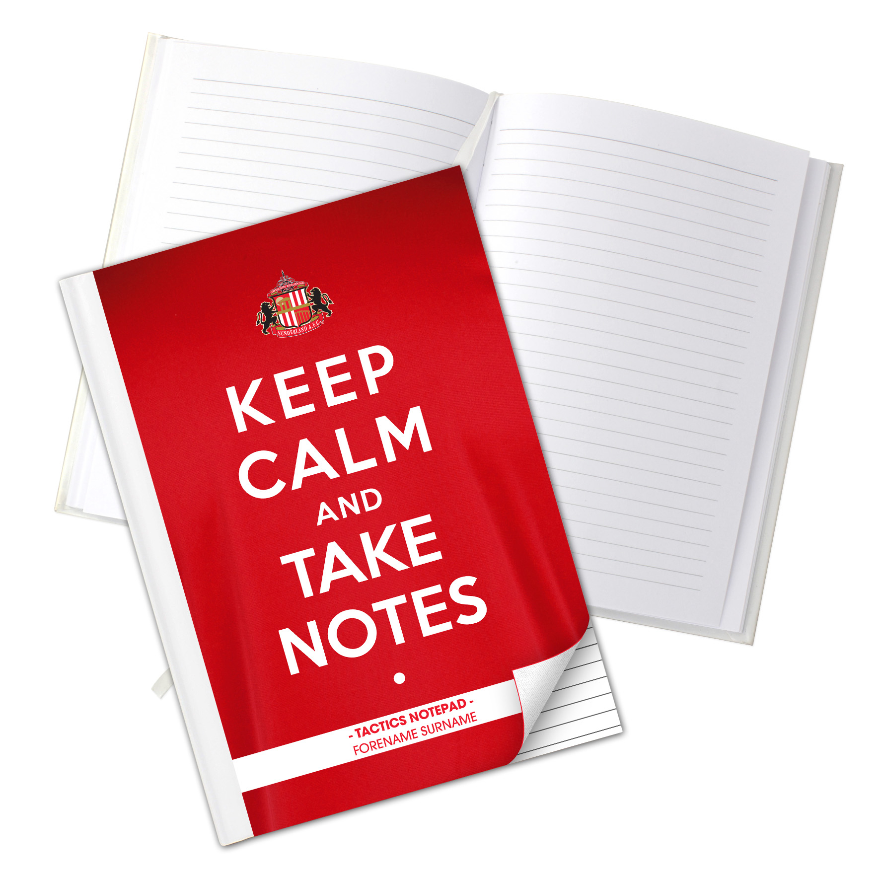 Sunderland Personalised Keep Calm & Take Notes A5 Hardback Notebook