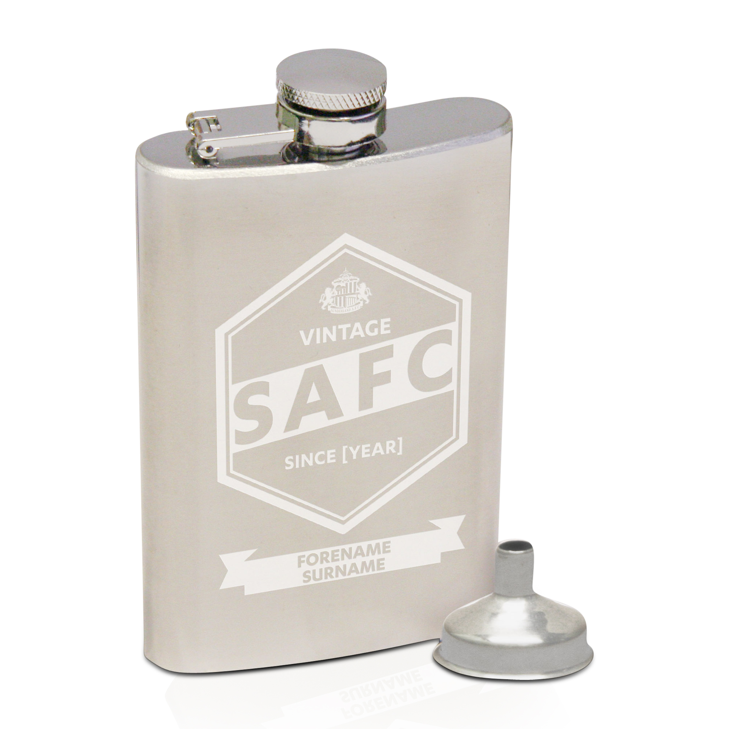 Sunderland Personalised Vintage Hip Flask 2oz