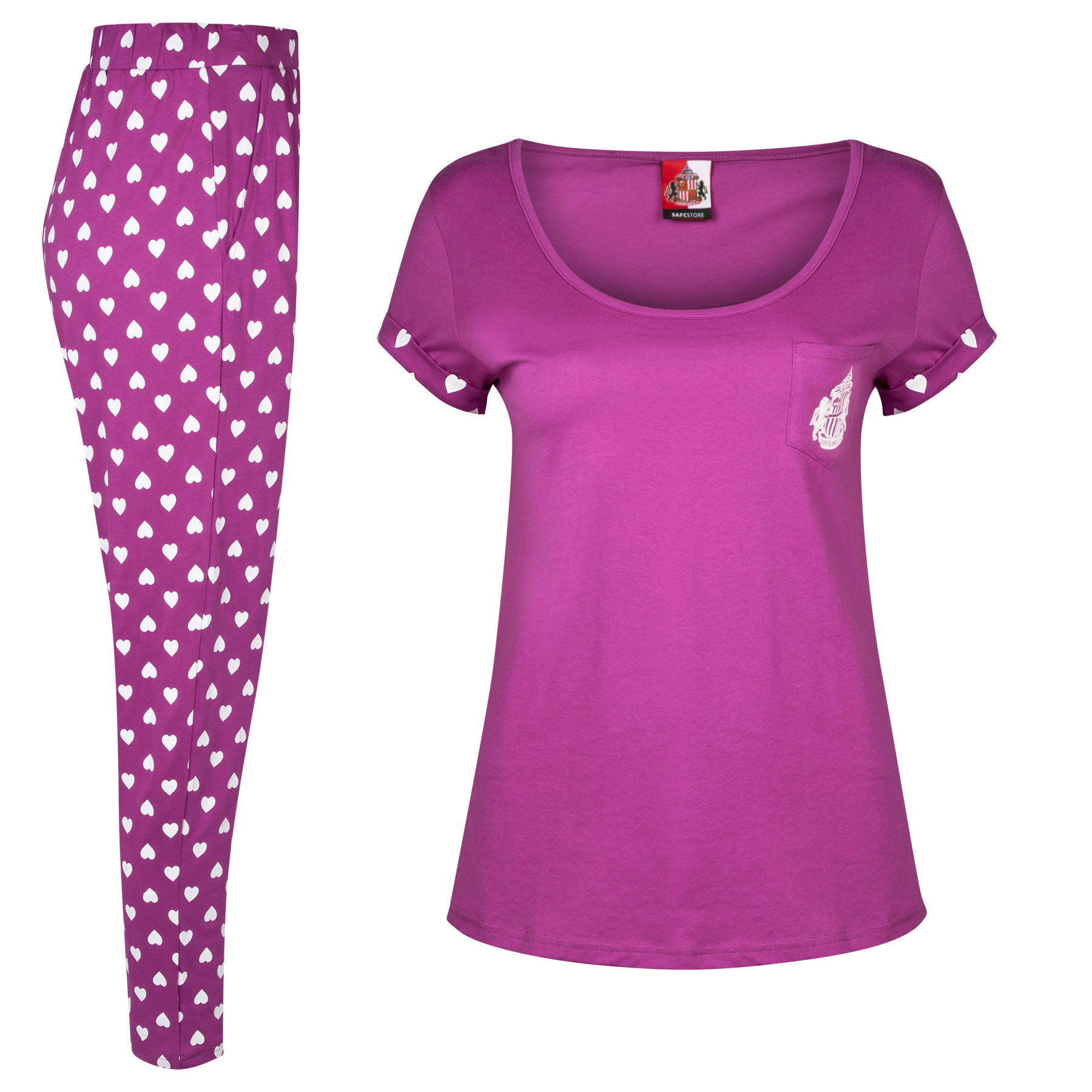 Sunderland Pyjamas-Grey/Purple/Magenta - Womens