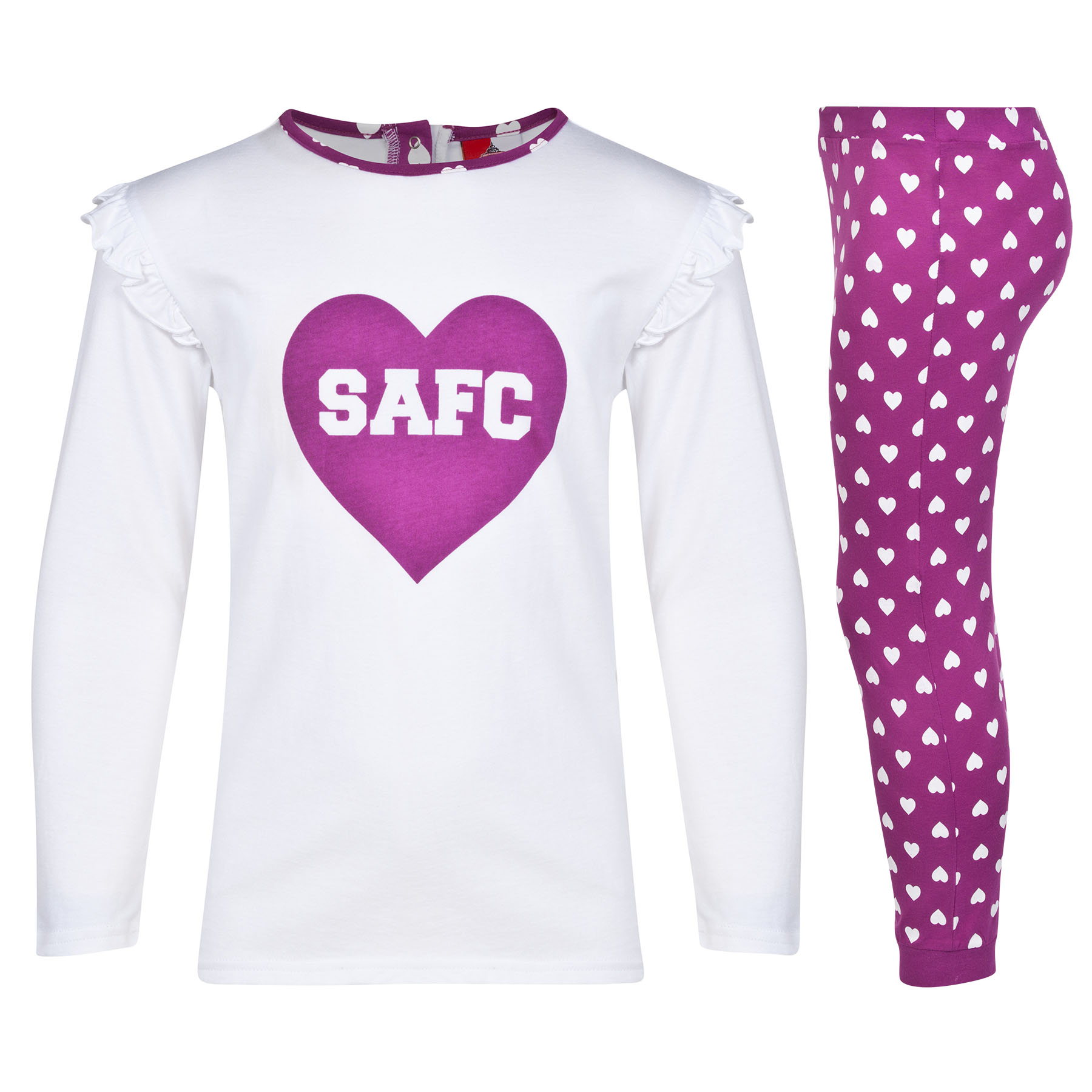 Sunderland Pyjamas-White/Purple/Magenta - Girls