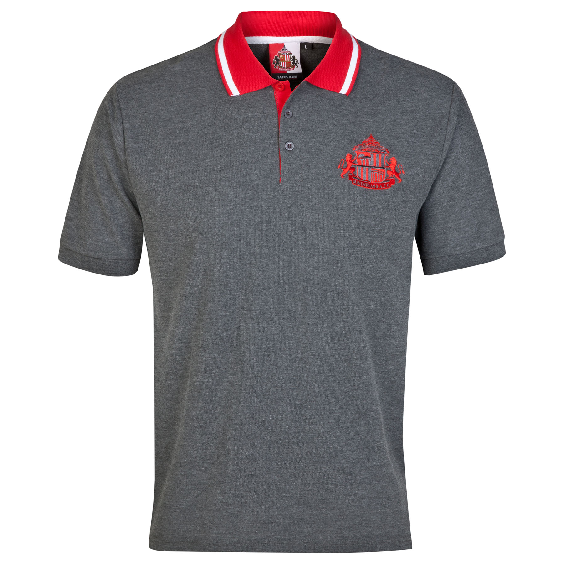 Sunderland Essential Polo Shirt - Vintage Marl-Older Boys