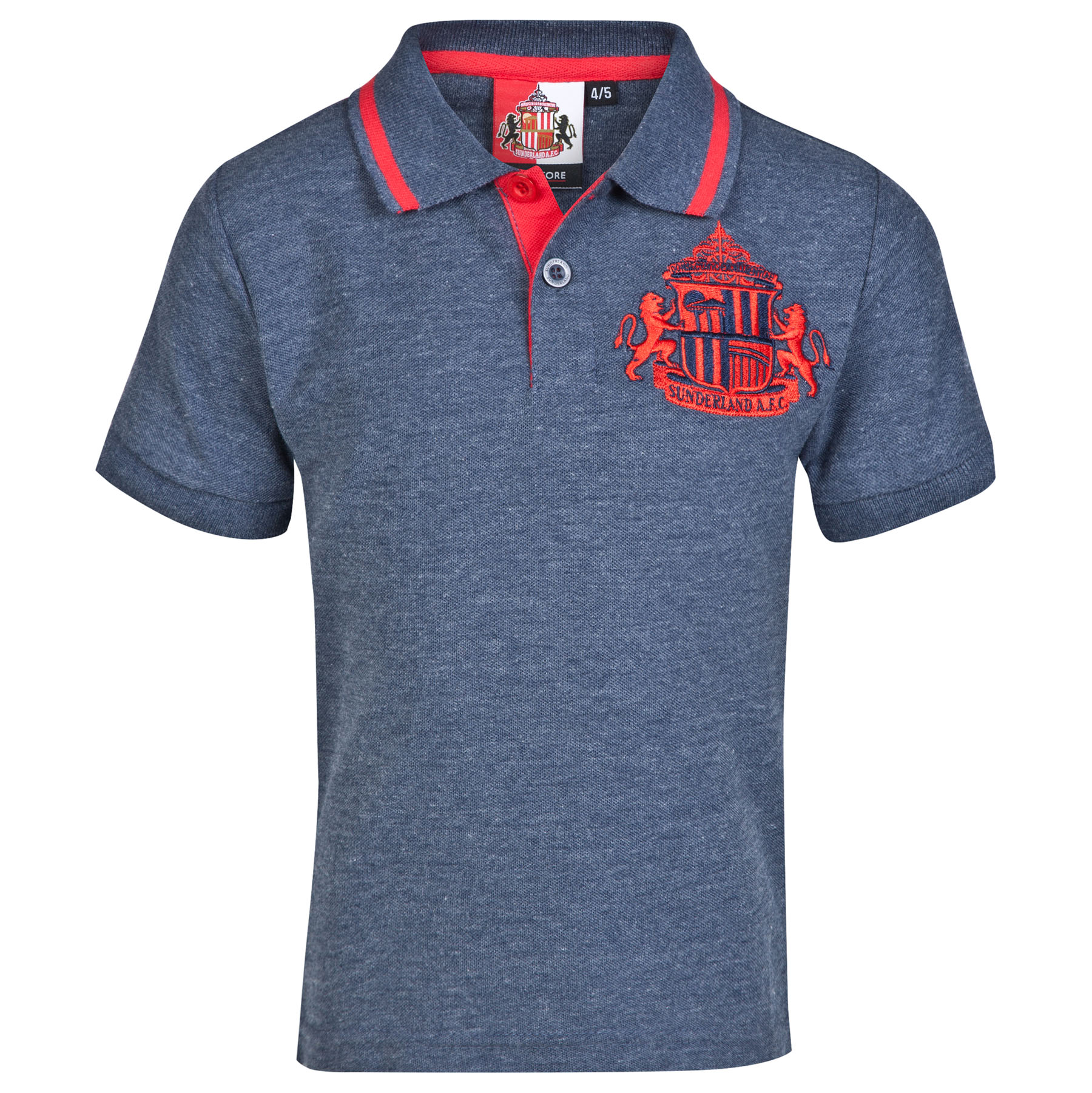 Sunderland Essential Polo Shirt - Heather Navy -Infant Boys