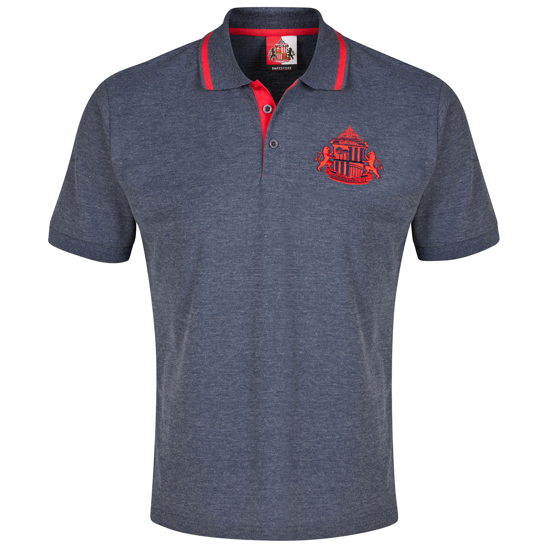 Sunderland Essential Polo Shirt - Heather Navy -Mens