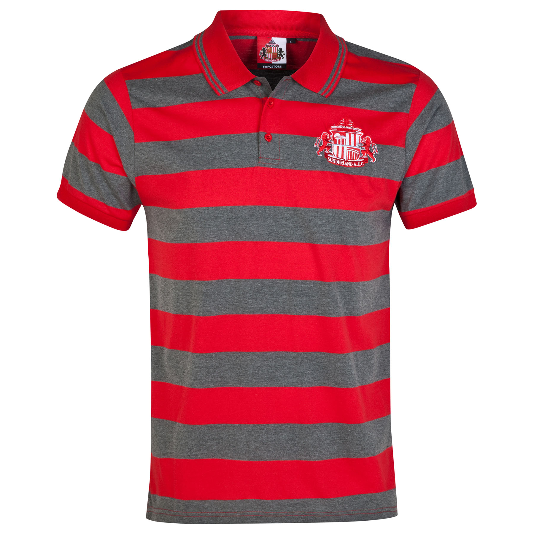 Sunderland Essential Polo Shirt - Red/Vintage Marl -Older Boys