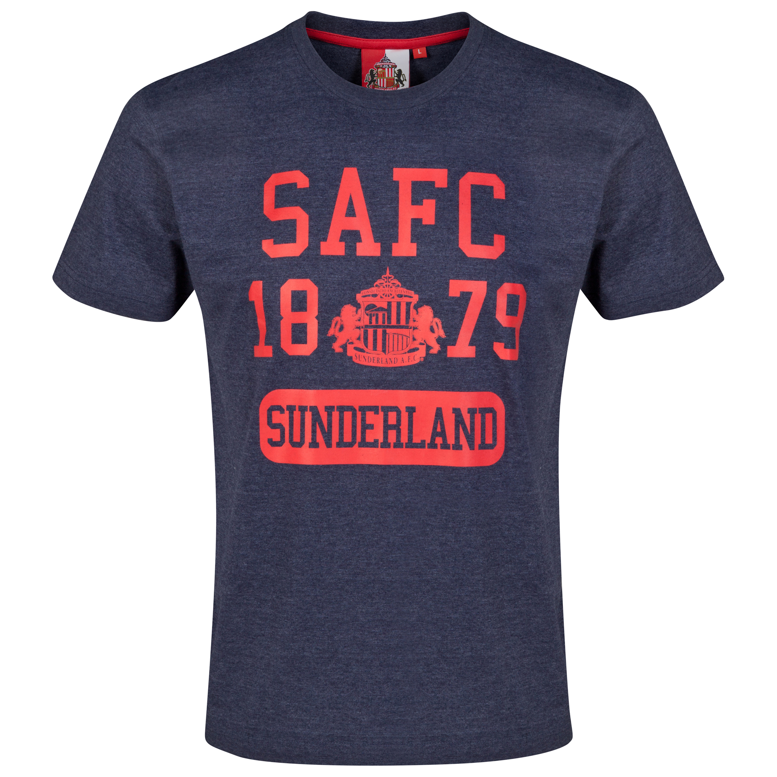 Sunderland Essential T-Shirt - Heather Navy - Mens
