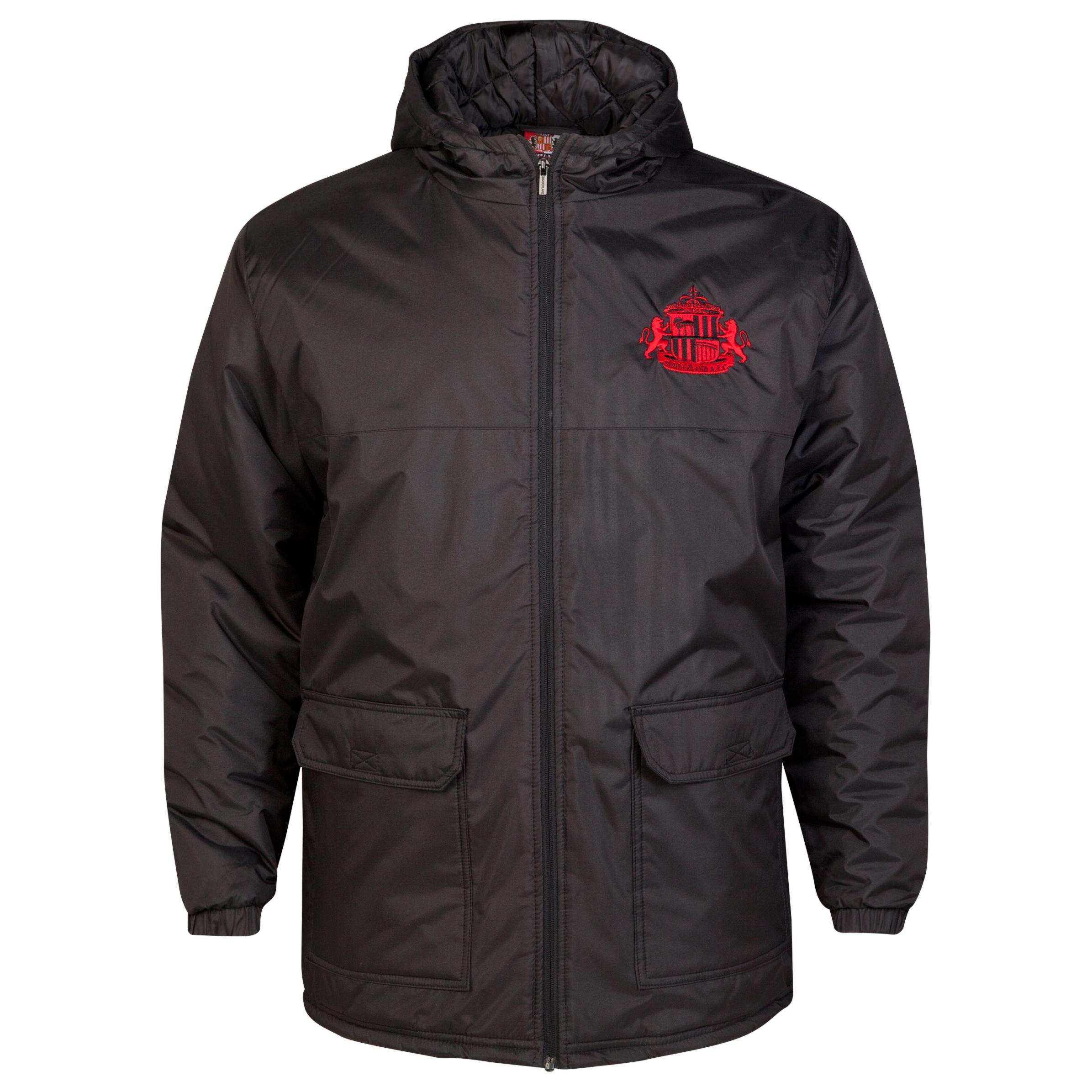 Sunderland Essential Padded Jacket - Black - Older Boys