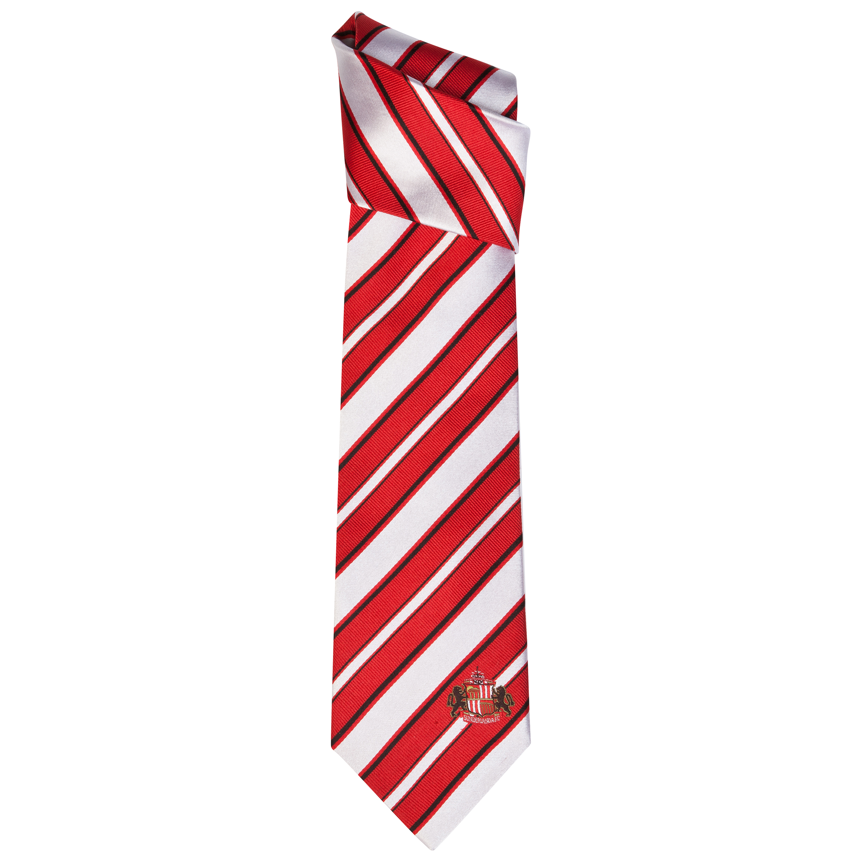 Sunderland Stripe Silk Tie White