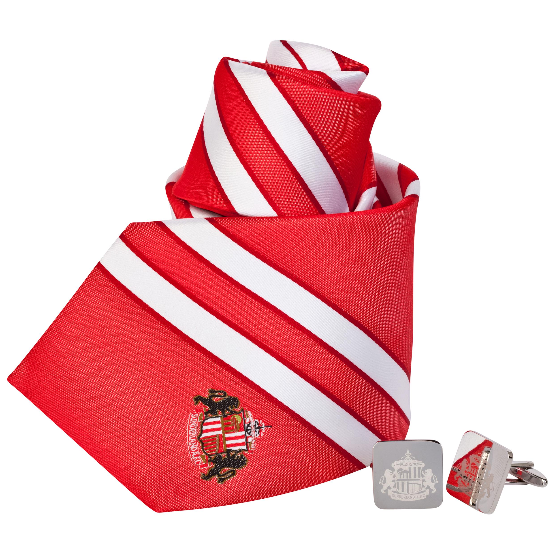 Sunderland Stripe Tie And Cufflink Boxset