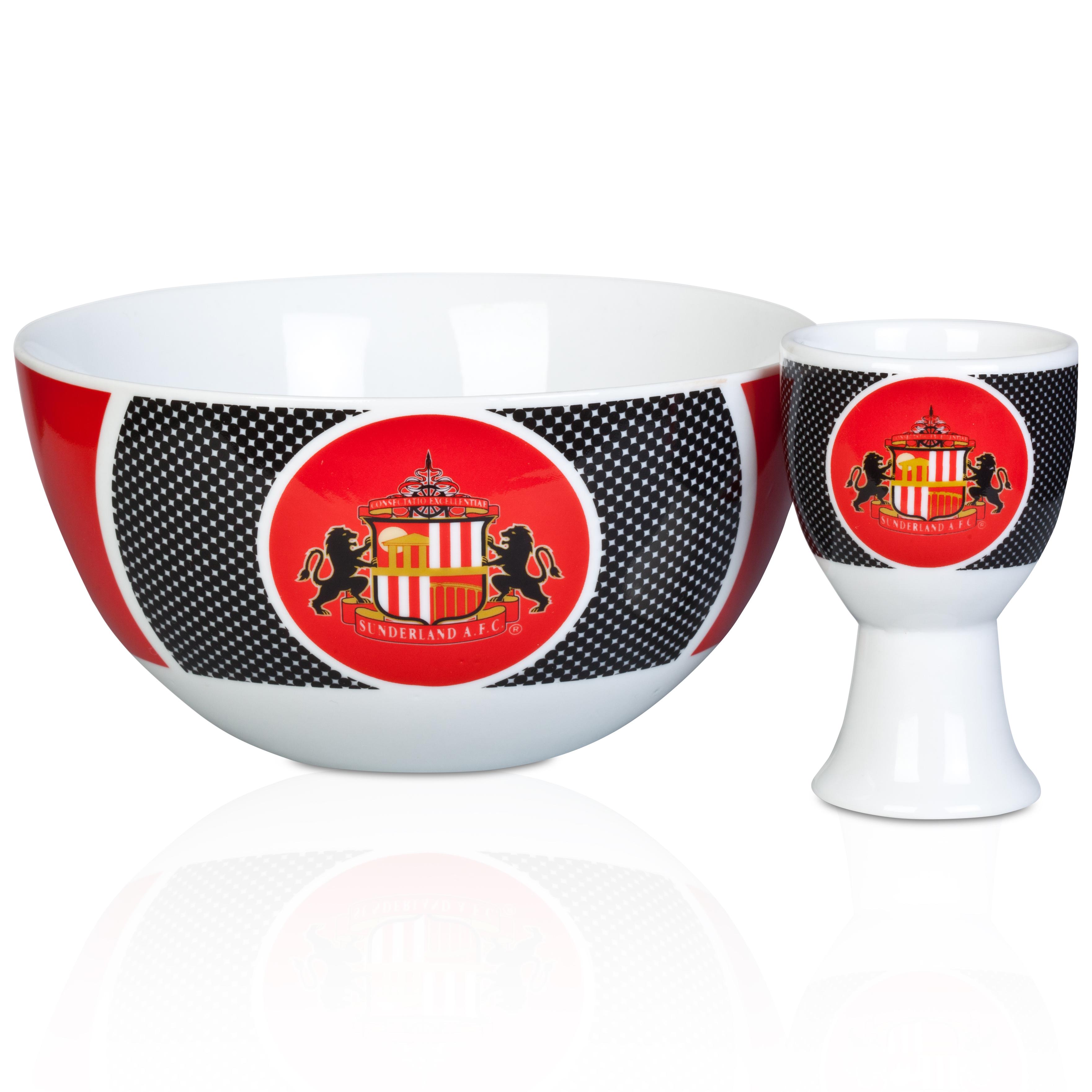 Sunderland Bullseye Ceral Bowl and Egg Cup