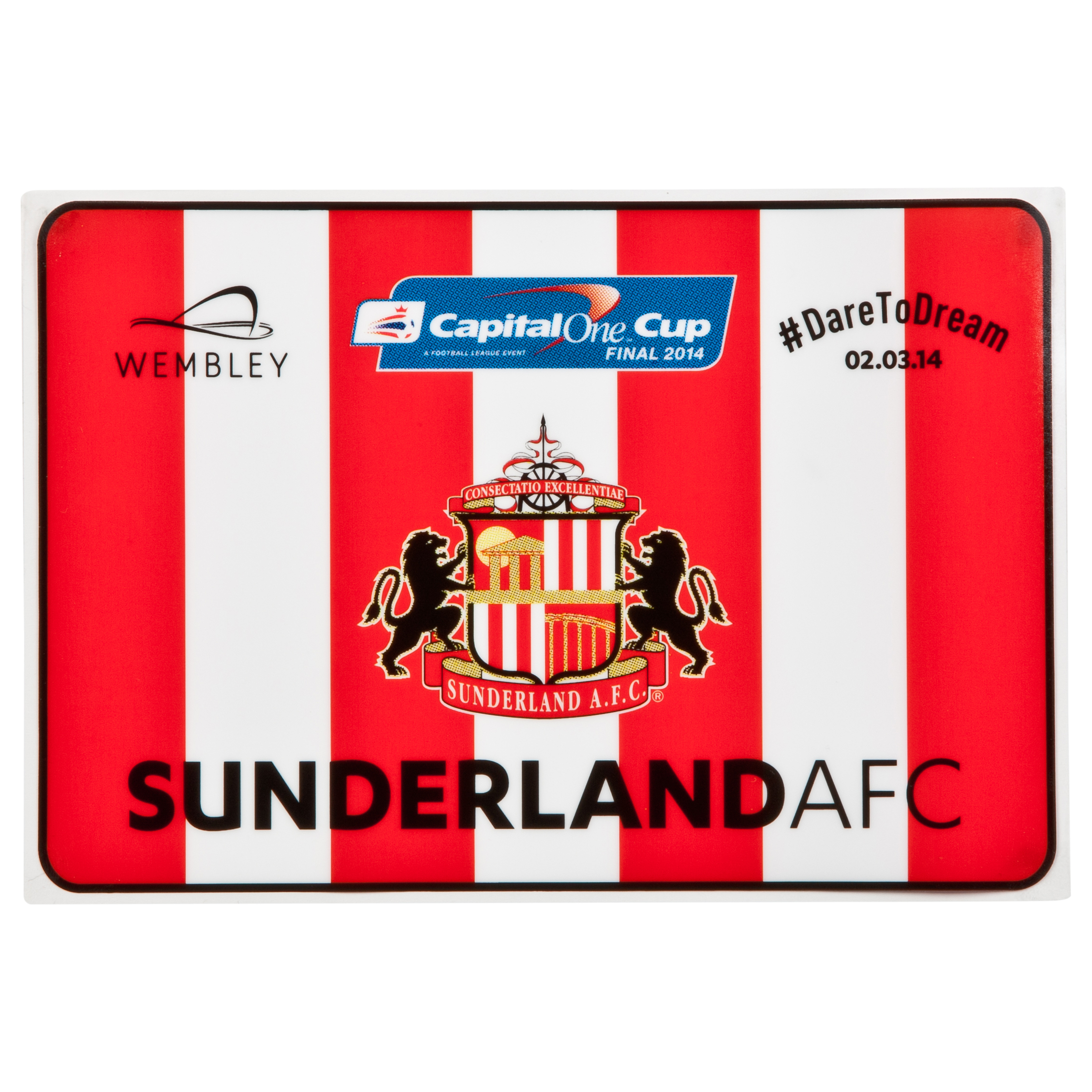 Sunderland Capital One Cup Final Car Sticker