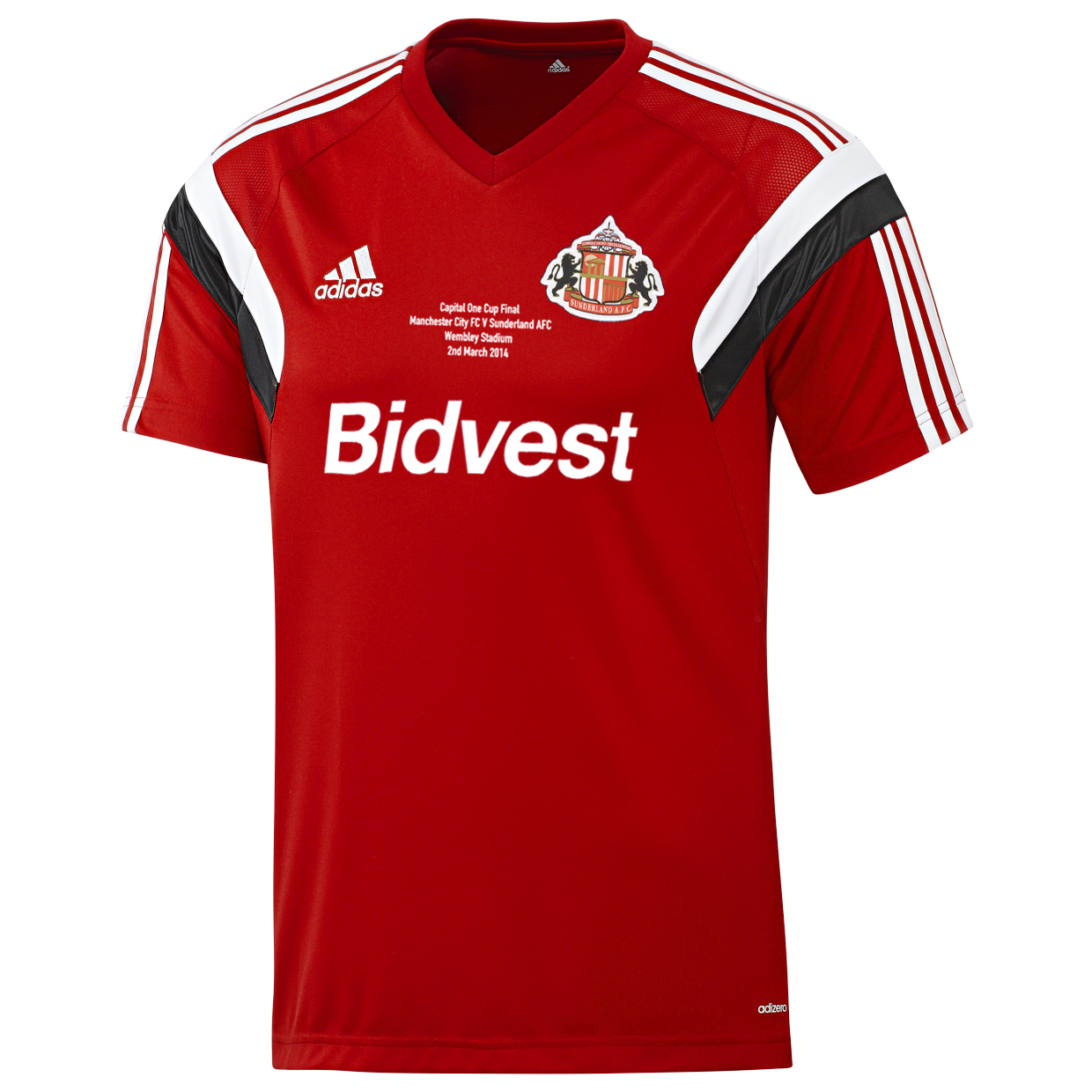 Sunderland League Cup Final Training T-Shirt Red