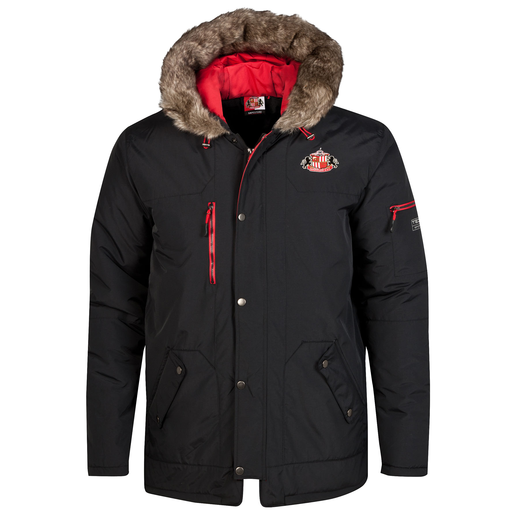 Sunderland Performance Parka Coat - Black -Mens