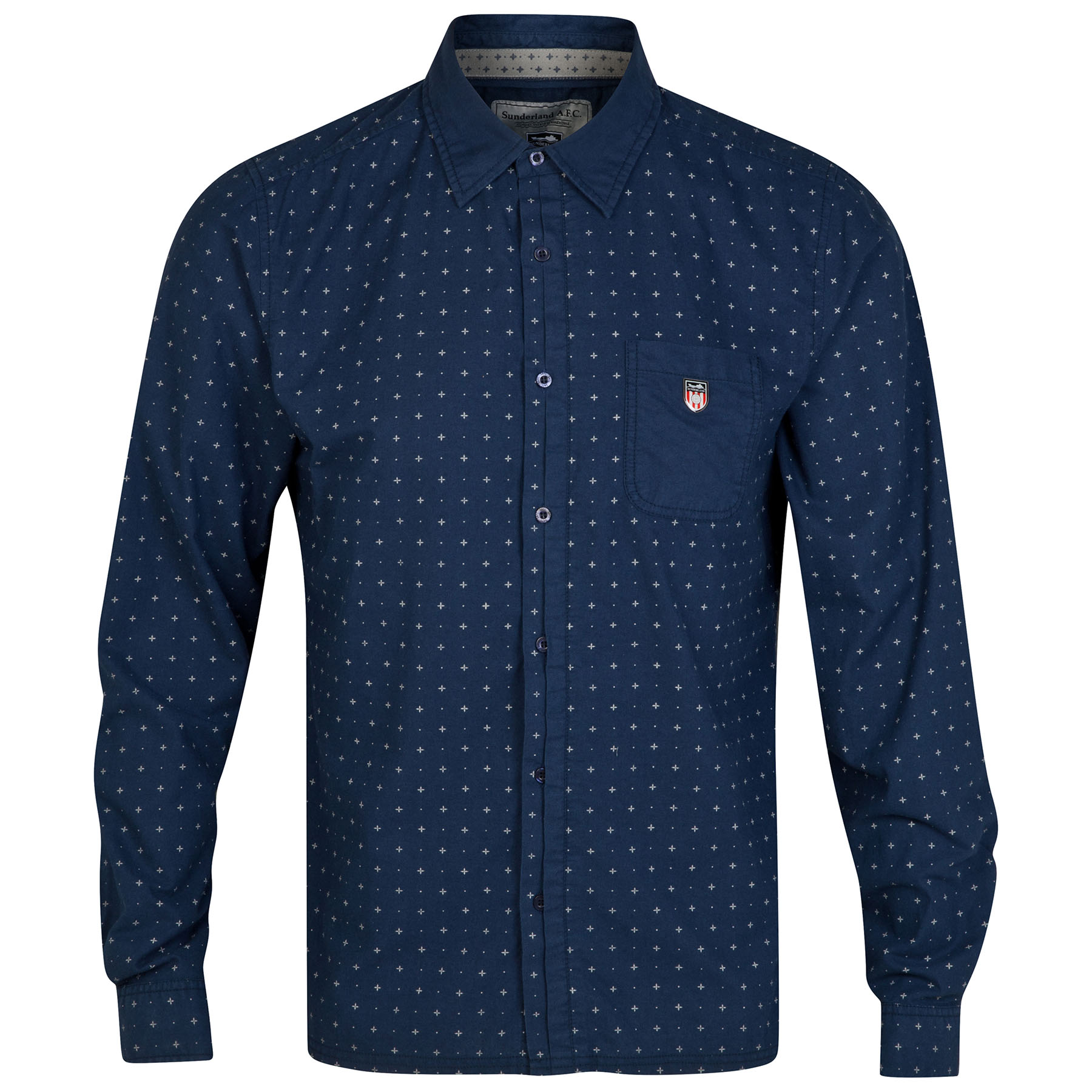 Sunderland Pattern Shirt - Navy - Mens