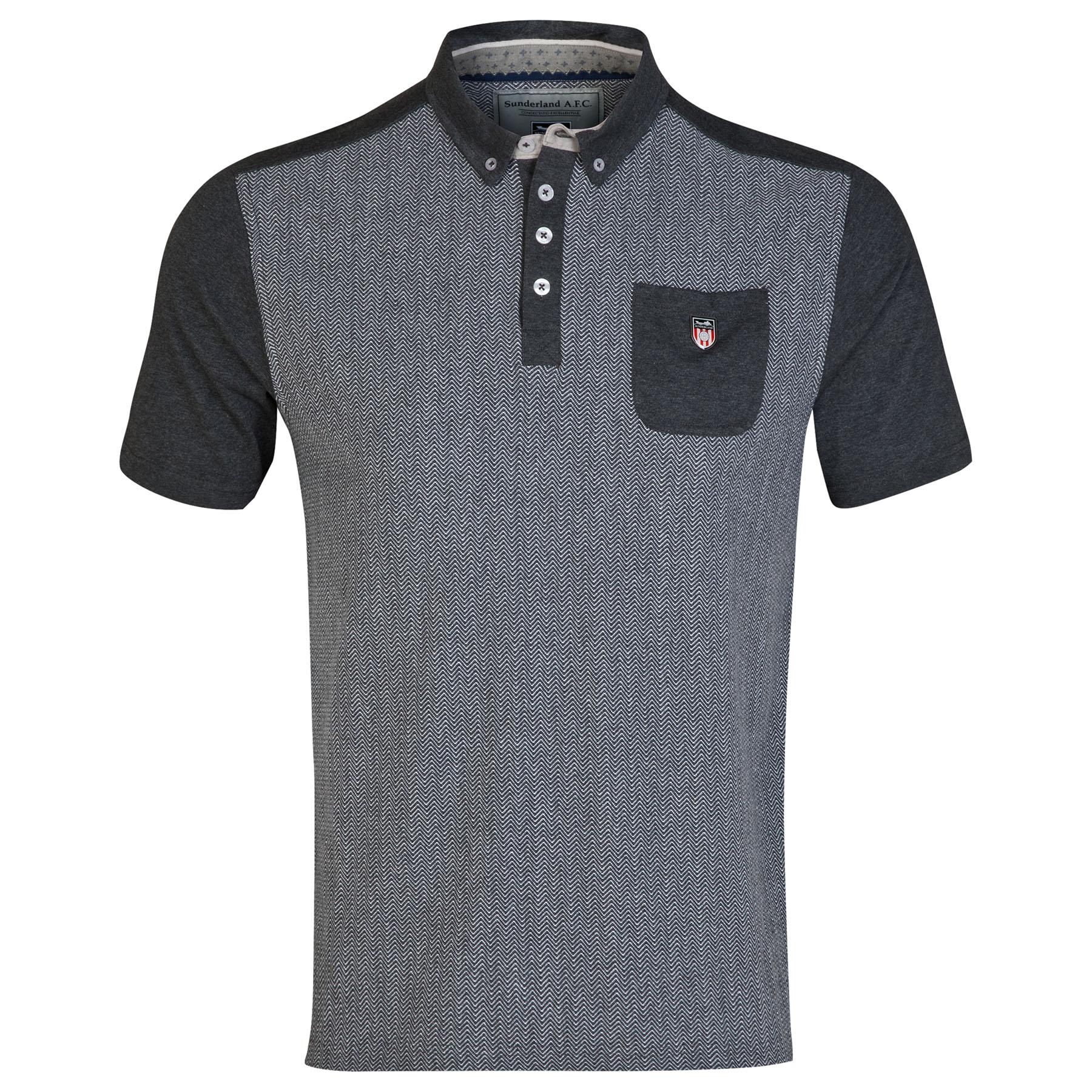 Sunderland Polo Shirt- - Charcoal - Mens