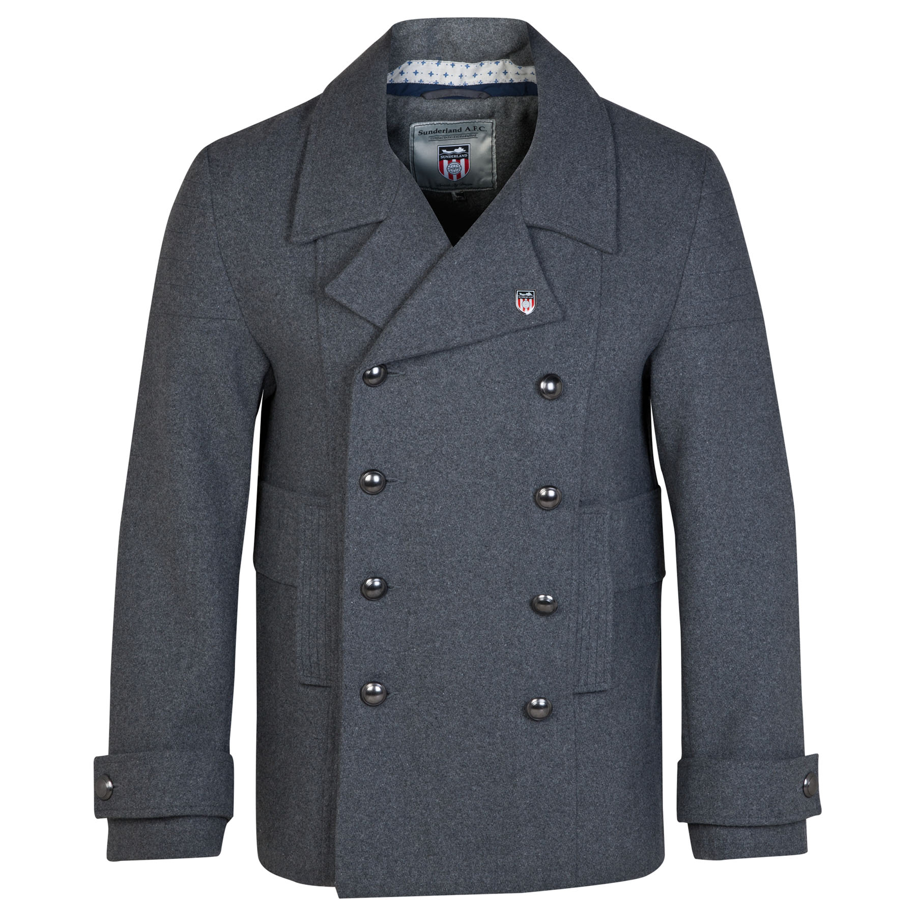 Sunderland Pea Coat - -Charcoal - Mens