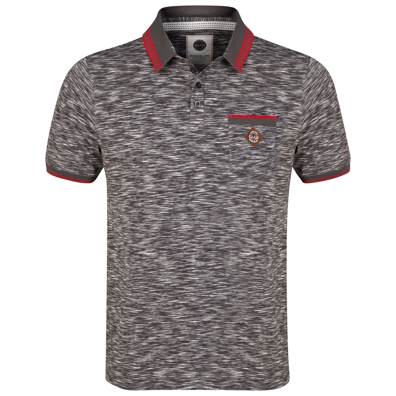 Sunderland Polo Shirt - Grey/Red - Mens