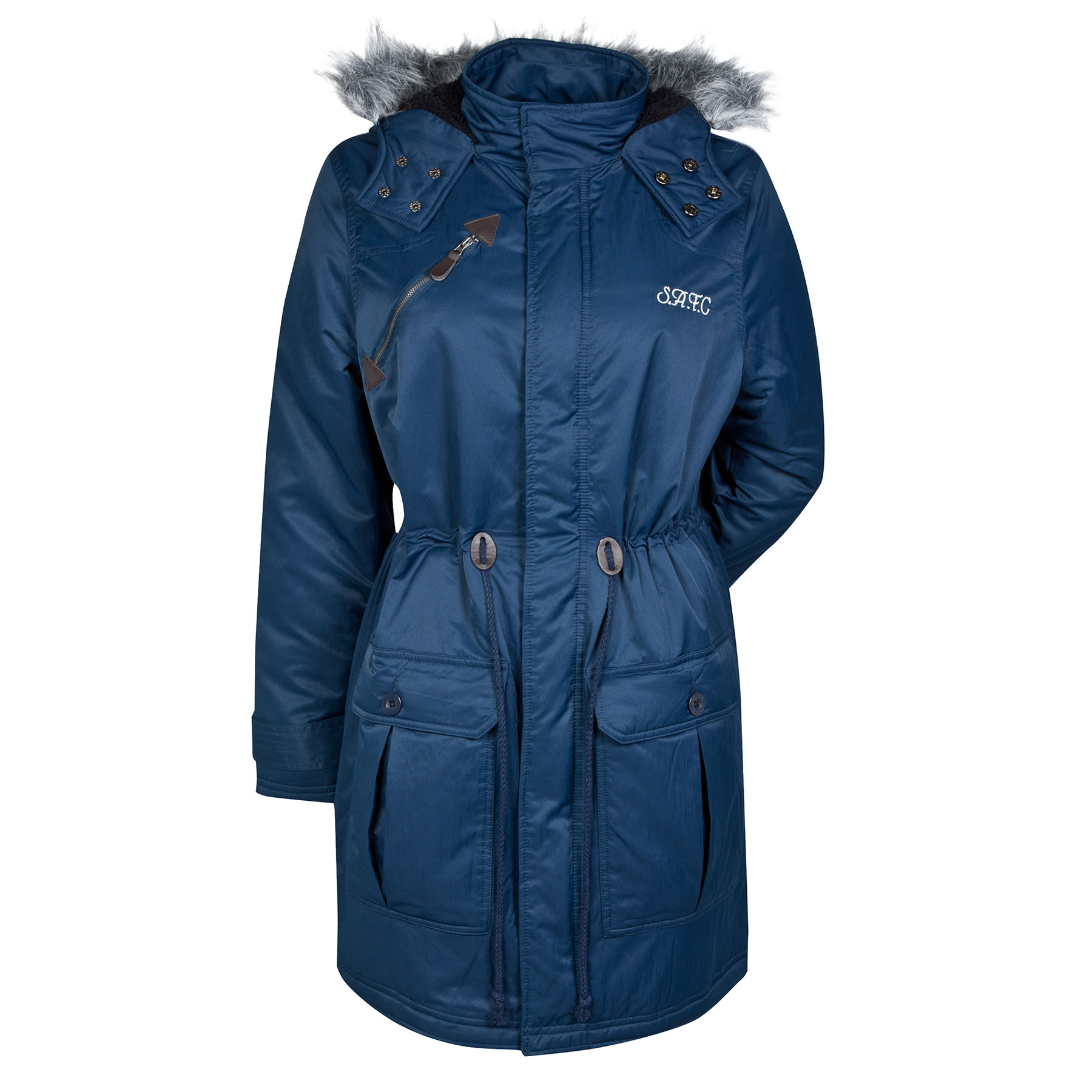 Sunderland Parka Coat - Navy - Womens