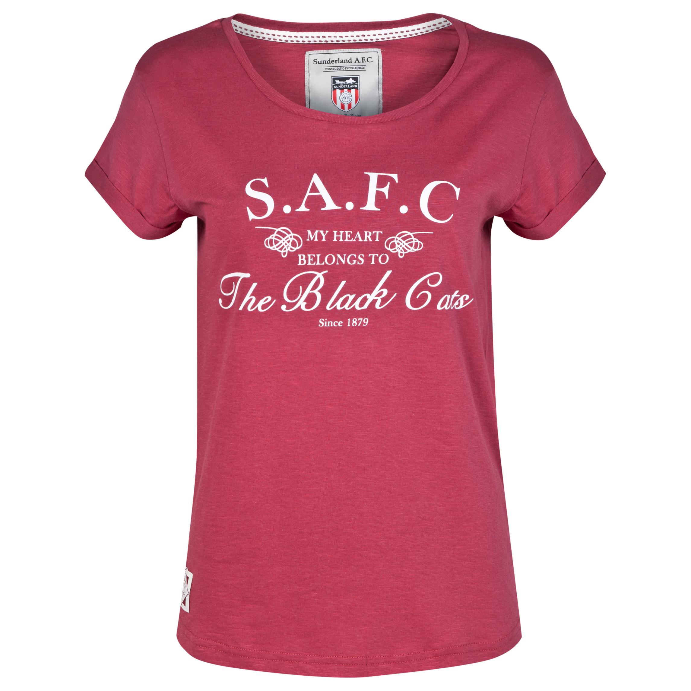 Sunderland T-Shirt - Maroon - Womens