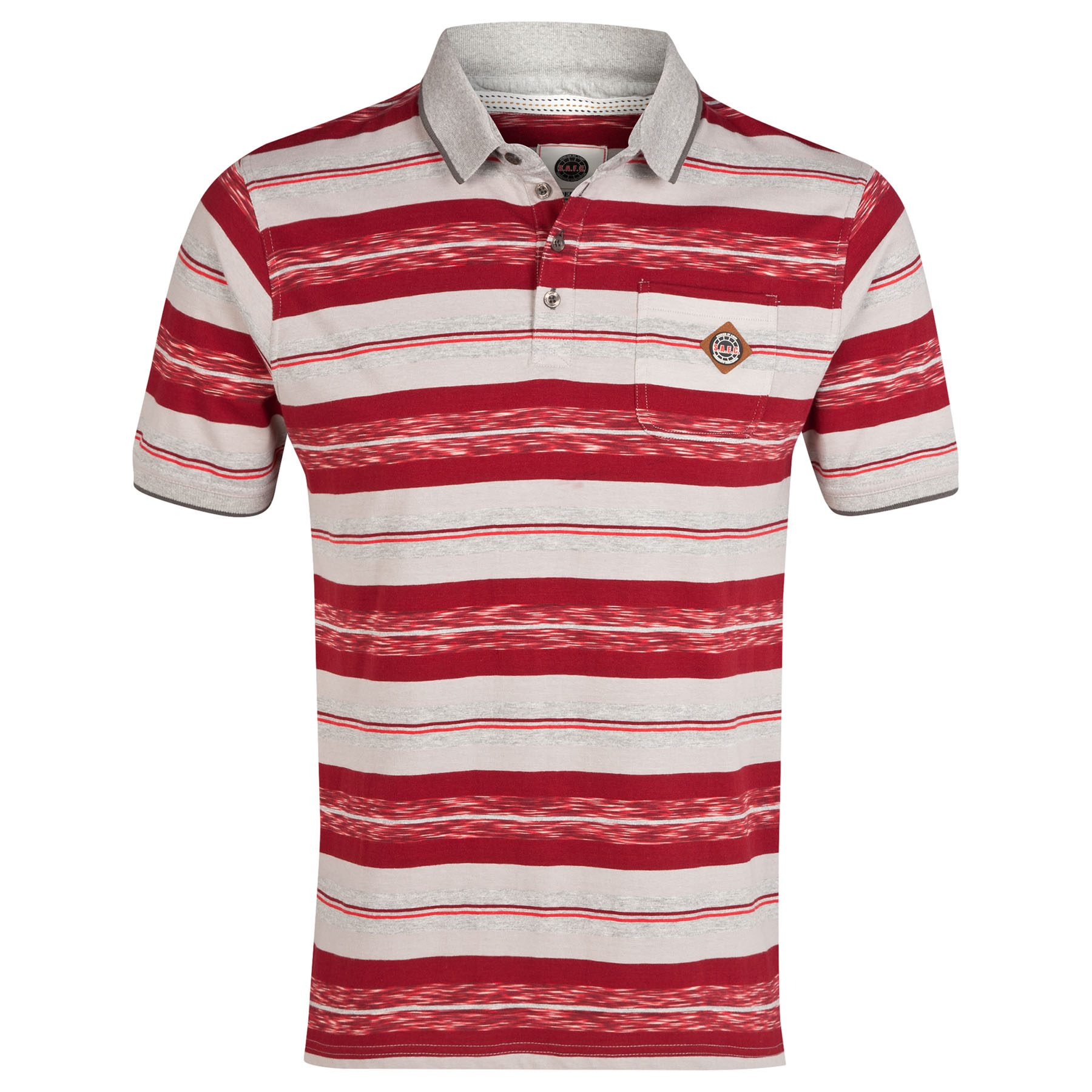 Sunderland Stripe Polo Shirt - Grey/Red - Older Boys