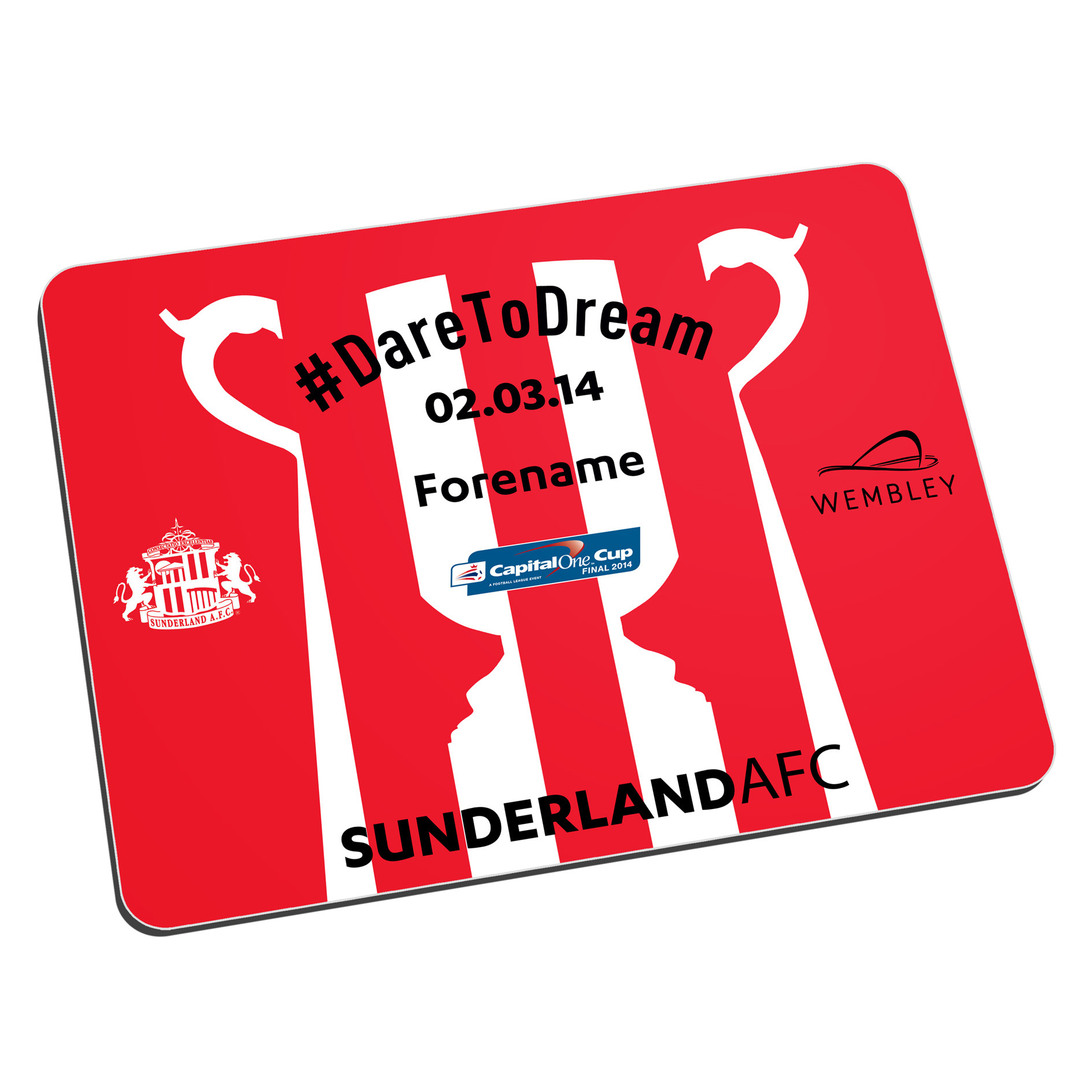 Sunderland Personalised Dare to Dream Mouse Mat