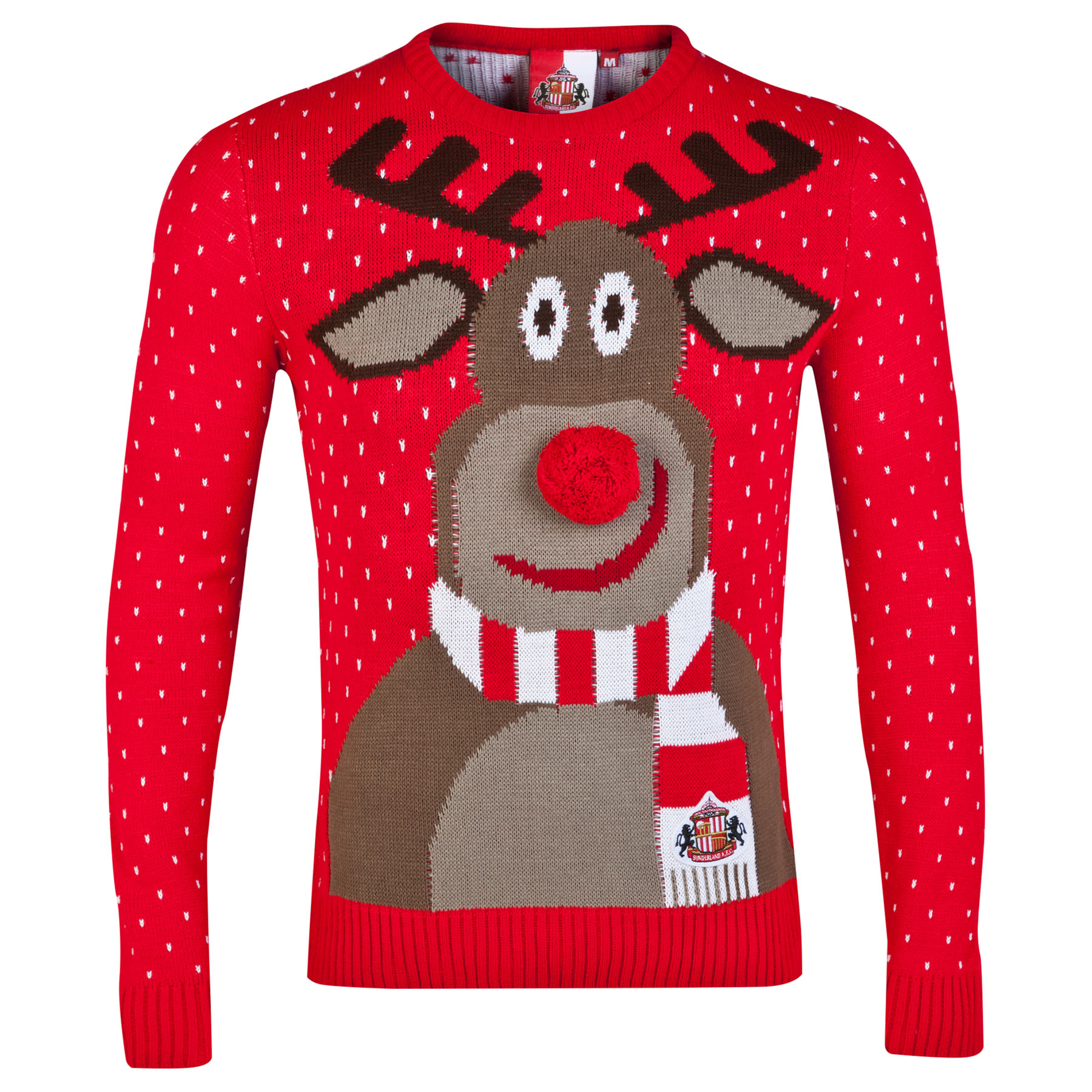 Sunderland Christmas Jumper - Red - Adult