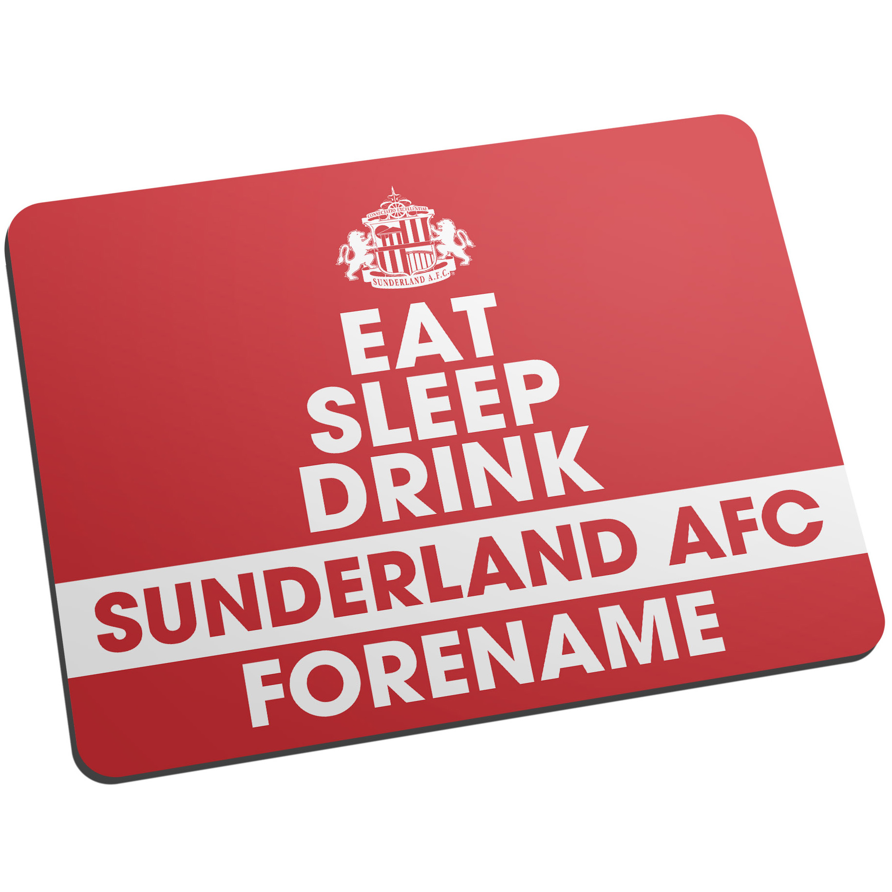 Sunderland Personalised Eat Sleep Drink Mouse Mat