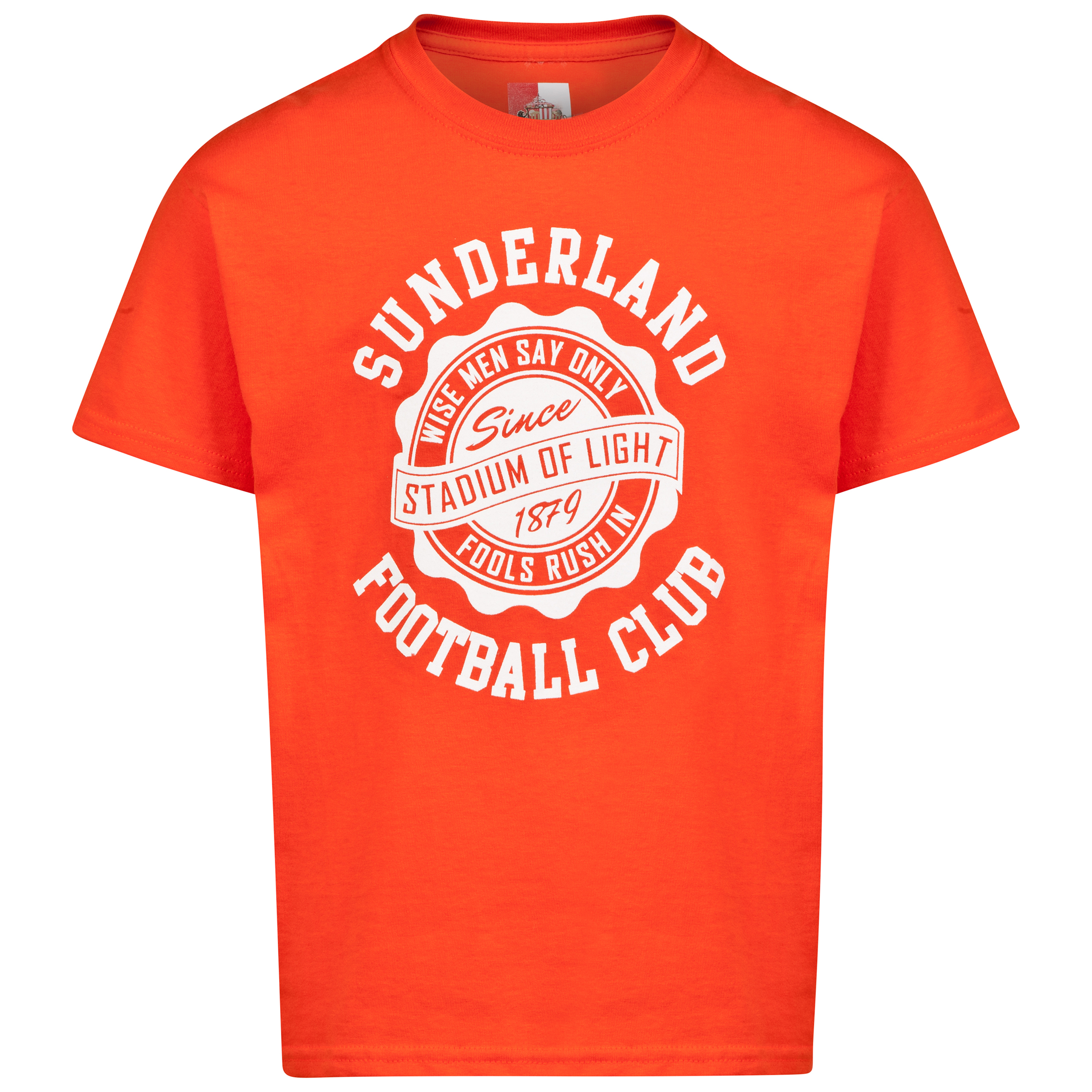 Sunderland 2 for 15 Dial T-Shirt- Junior Orange