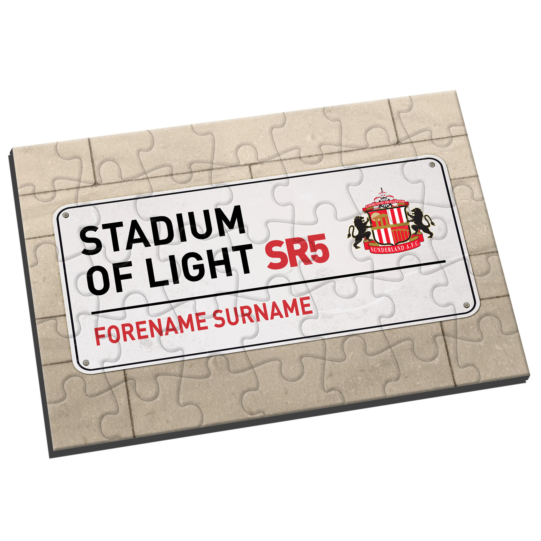 Sunderland Personalised Street Sign Jigsaw