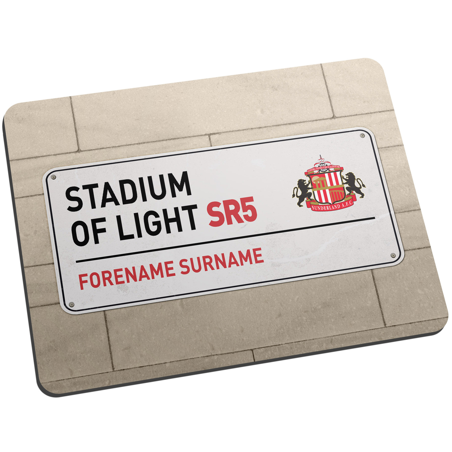 Sunderland Personalised Street Sign Mouse Mat