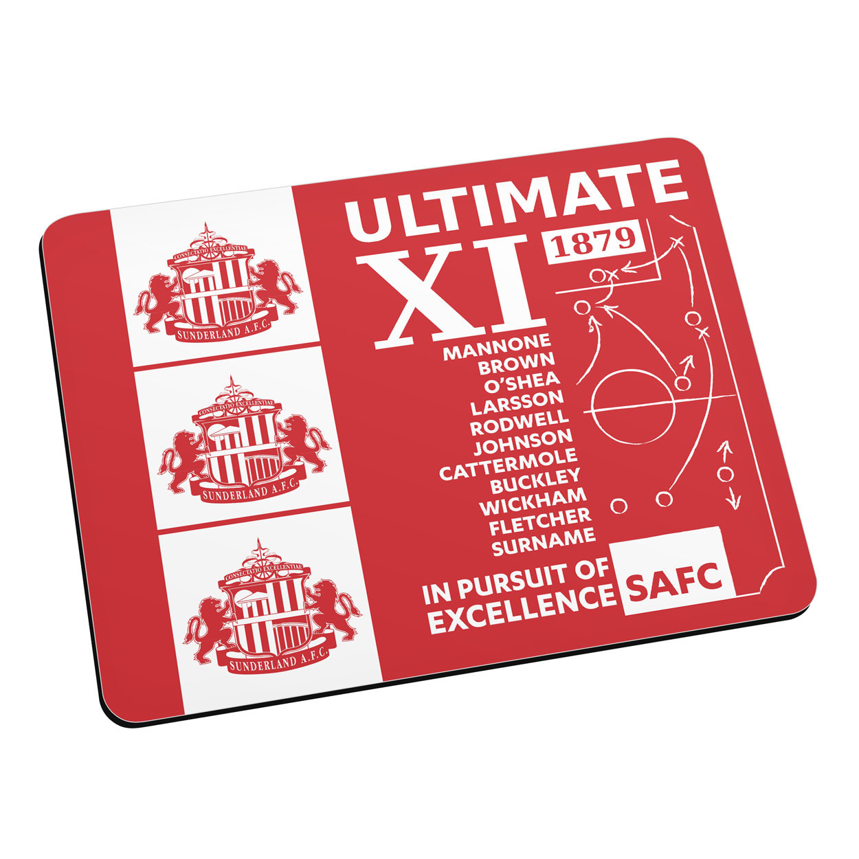Sunderland Personalised Ultimate XI Mouse Mat
