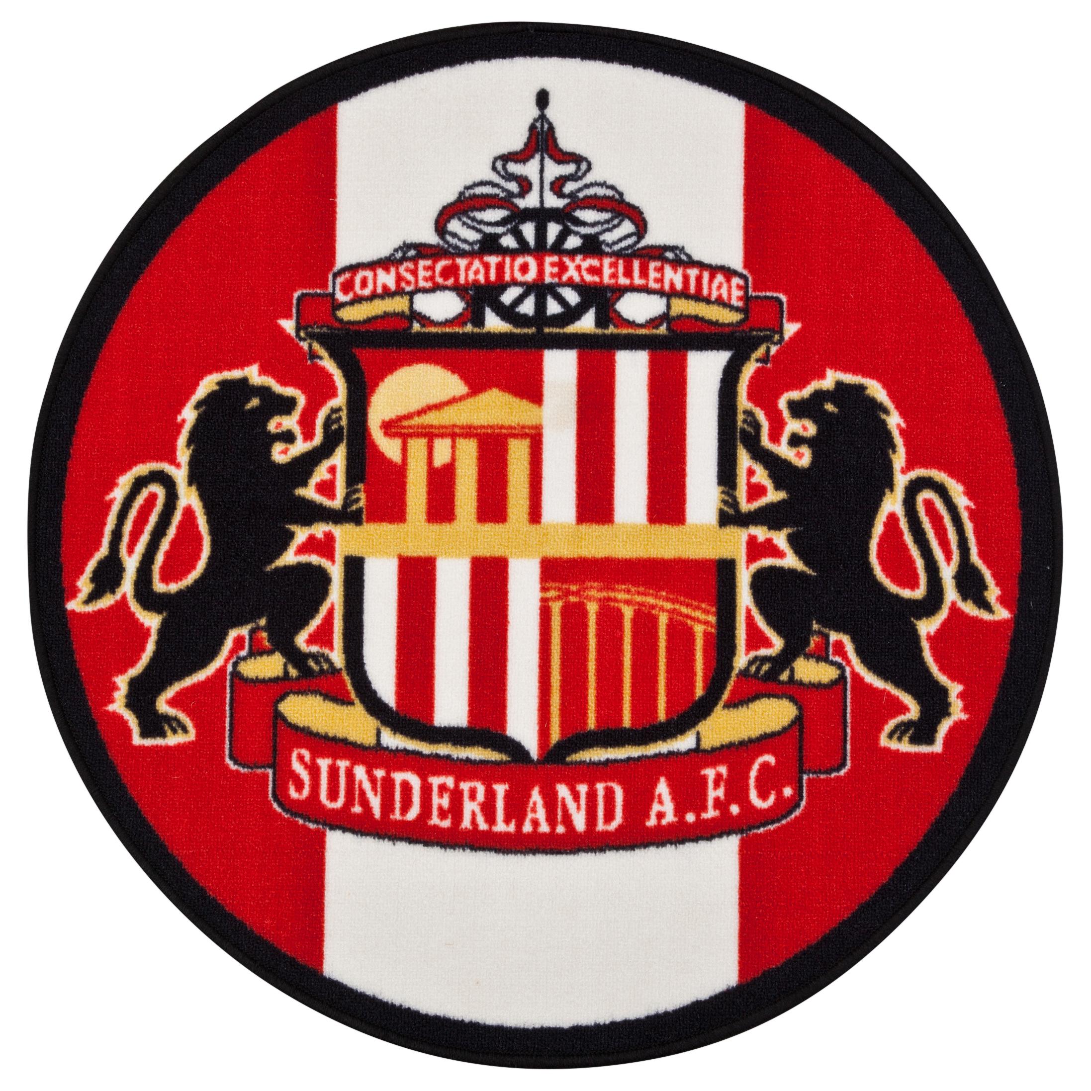 Sunderland Crest Rug Oval 80cm Dia