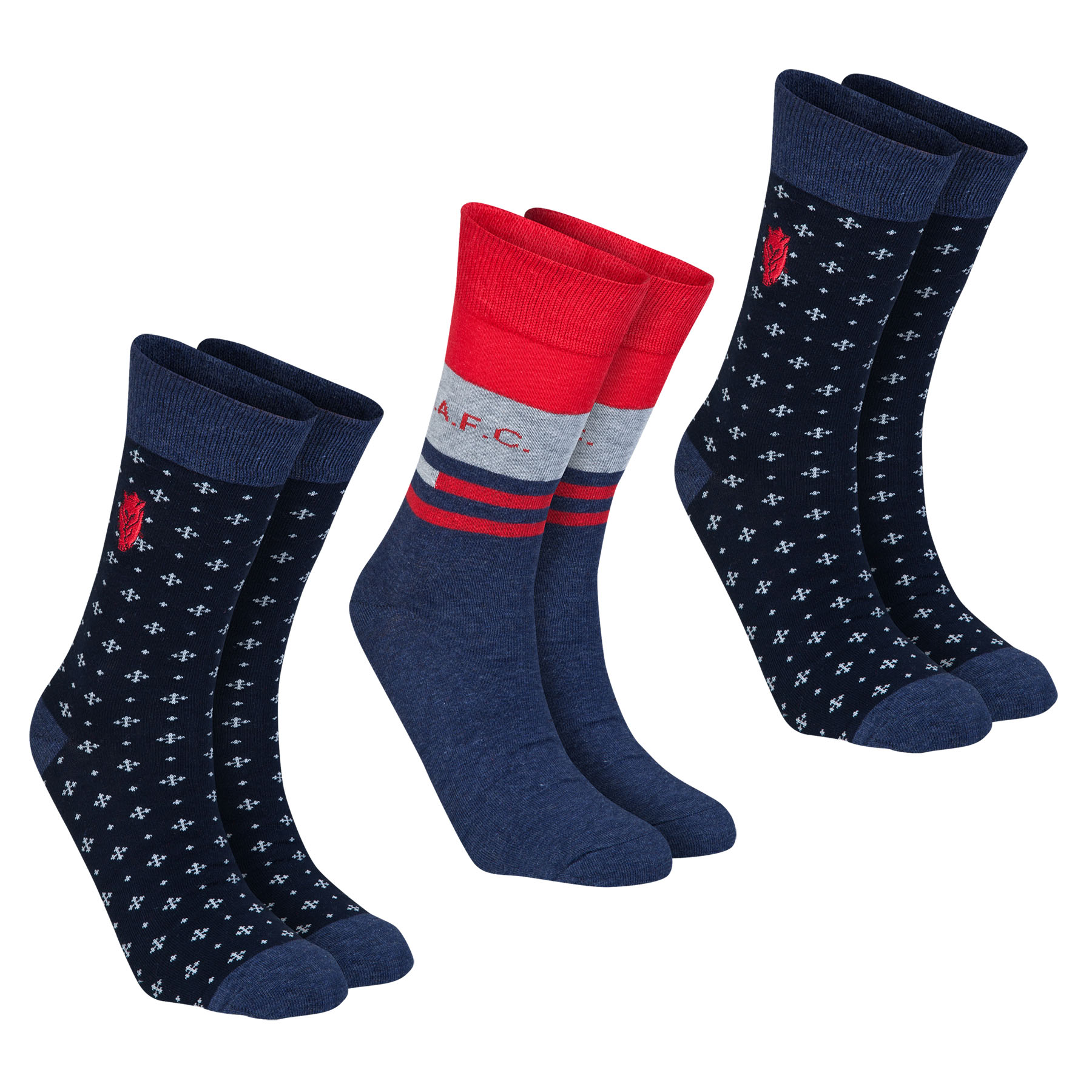 Sunderland Sock Giftbox - Navy/Grey - Mens