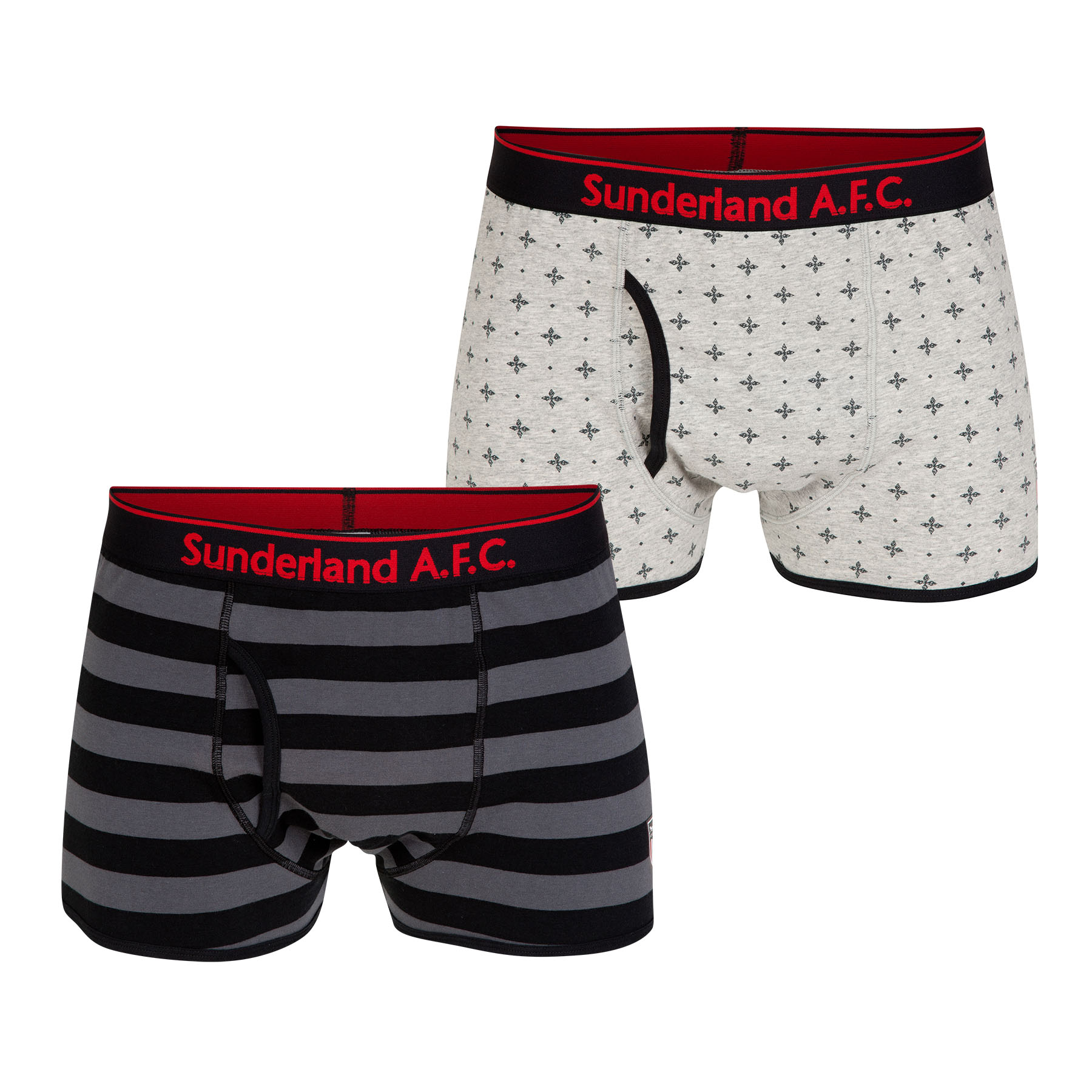 Sunderland 2pk Boxer Shorts - Black/Grey - Mens