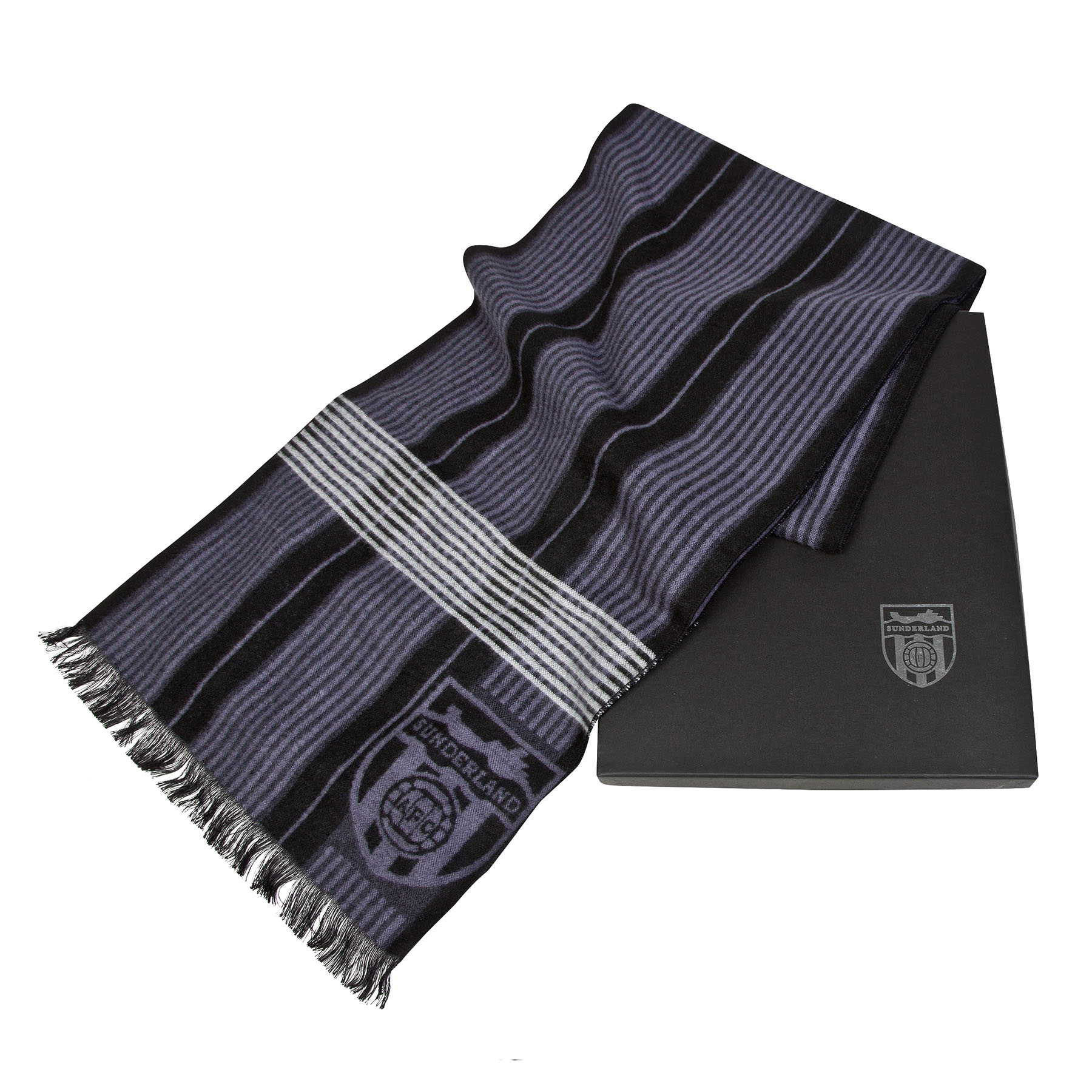 Sunderland Luxury Boxed Scarf - Black - Adult