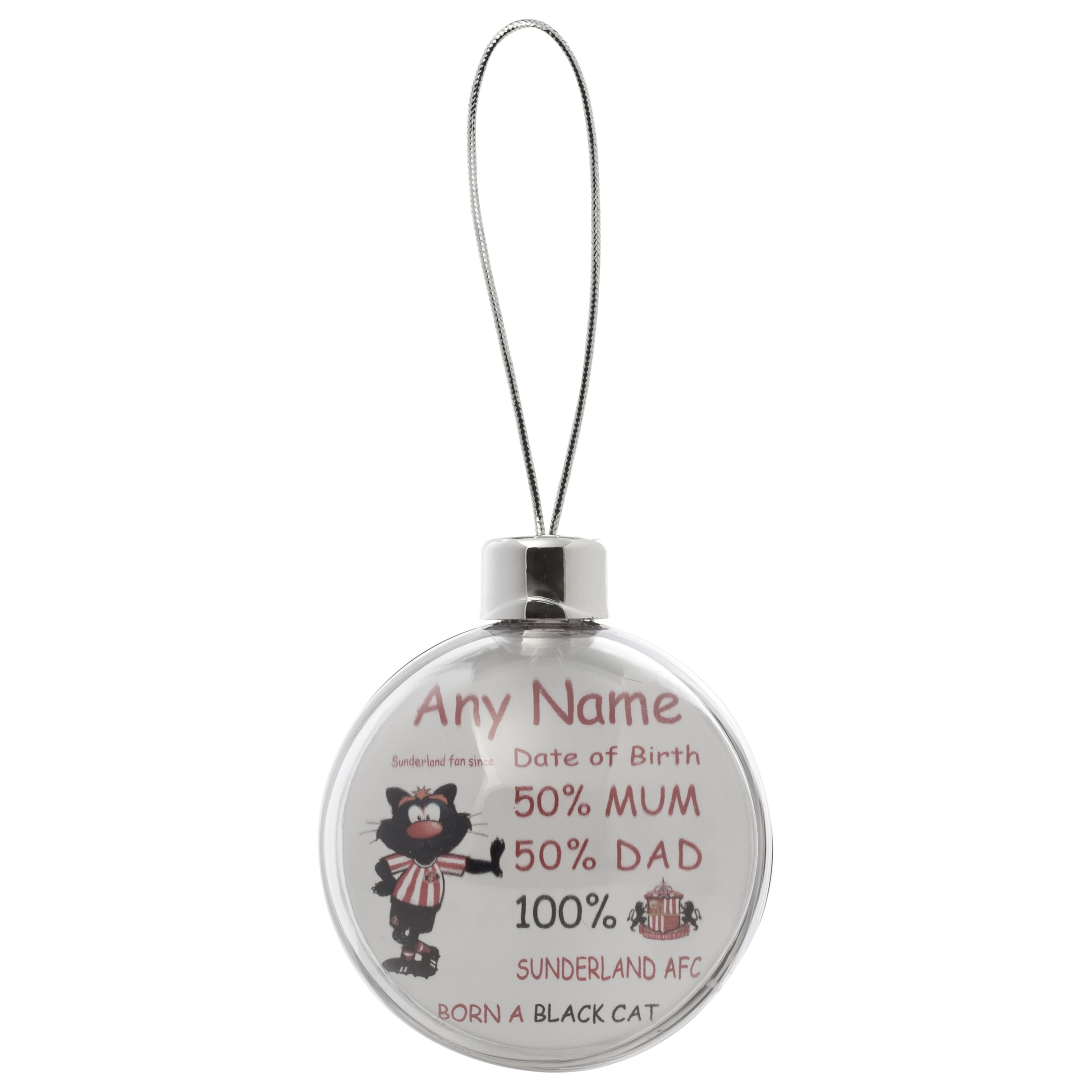 Sunderland Personalised Samson SAFC Fan Since Bauble