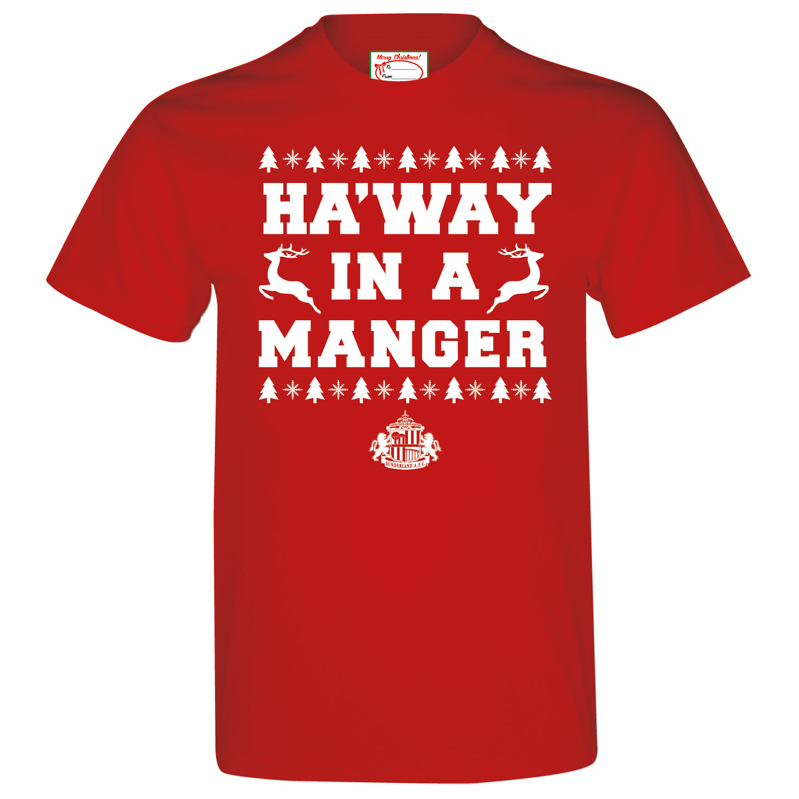 Sunderland 2for 20 Manger T-Shirt - Red - Mens