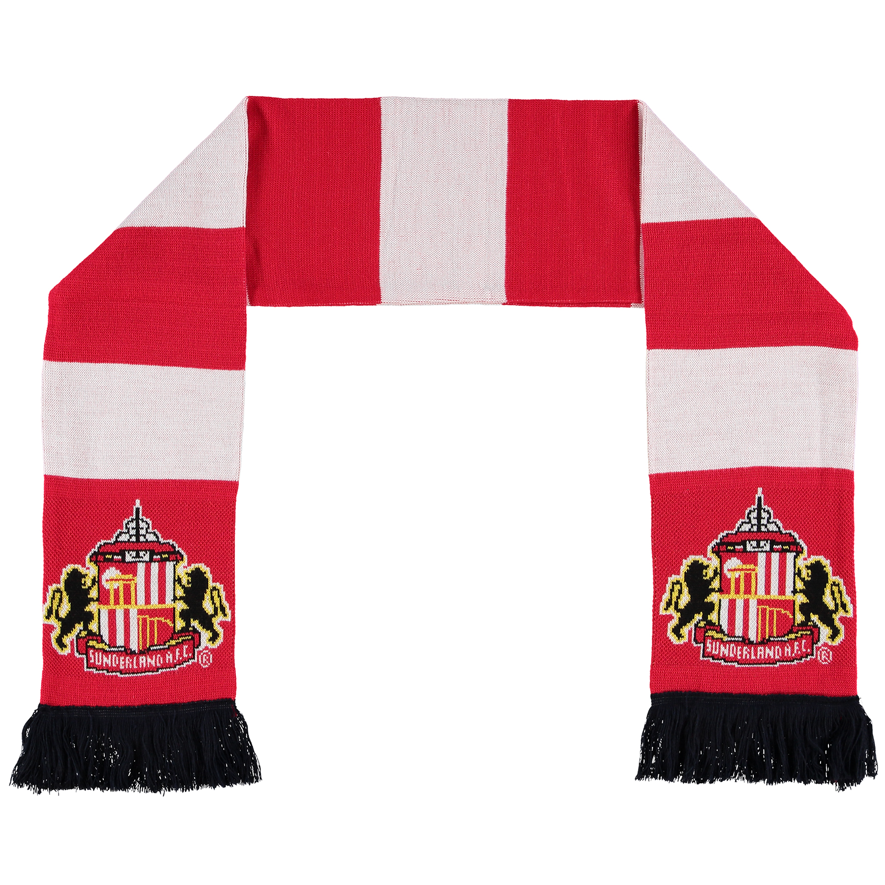 Sunderland Bar Scarf - Red