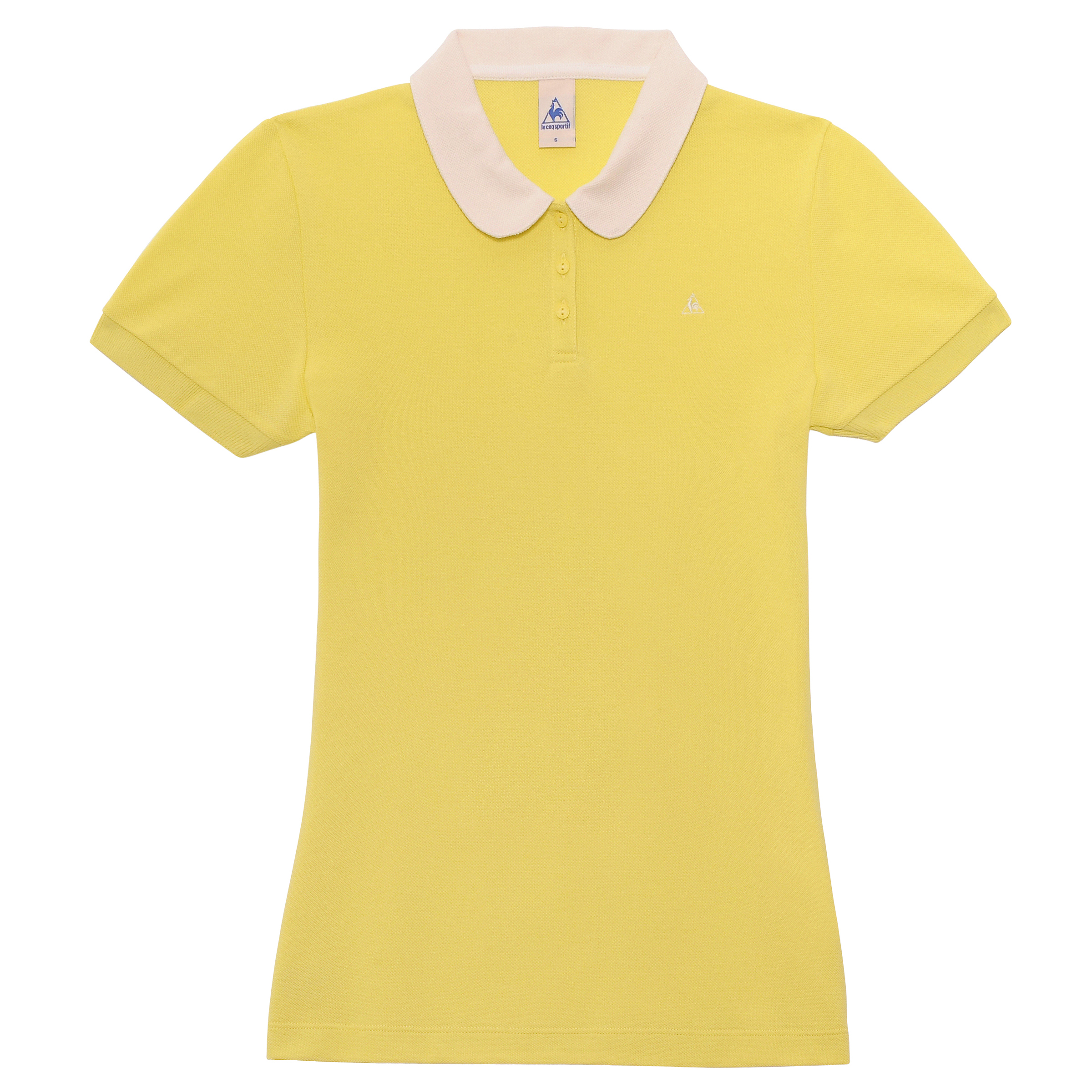Le Tour de France by Le Coq Sportif La Grande Boucle Polo - Lemon Tonic - Womens