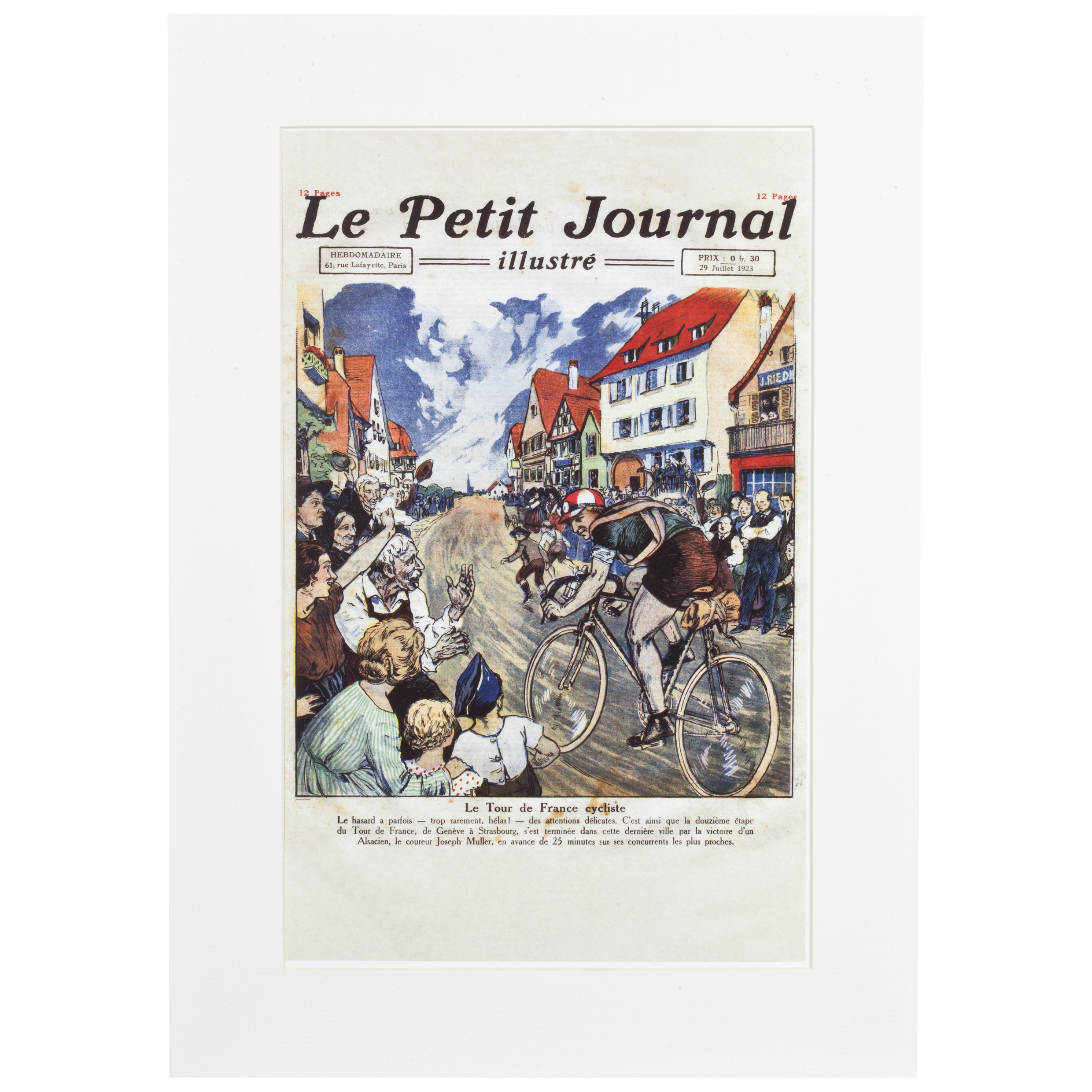 Le Tour de France Le Petit Journal Framed & Mounted Print