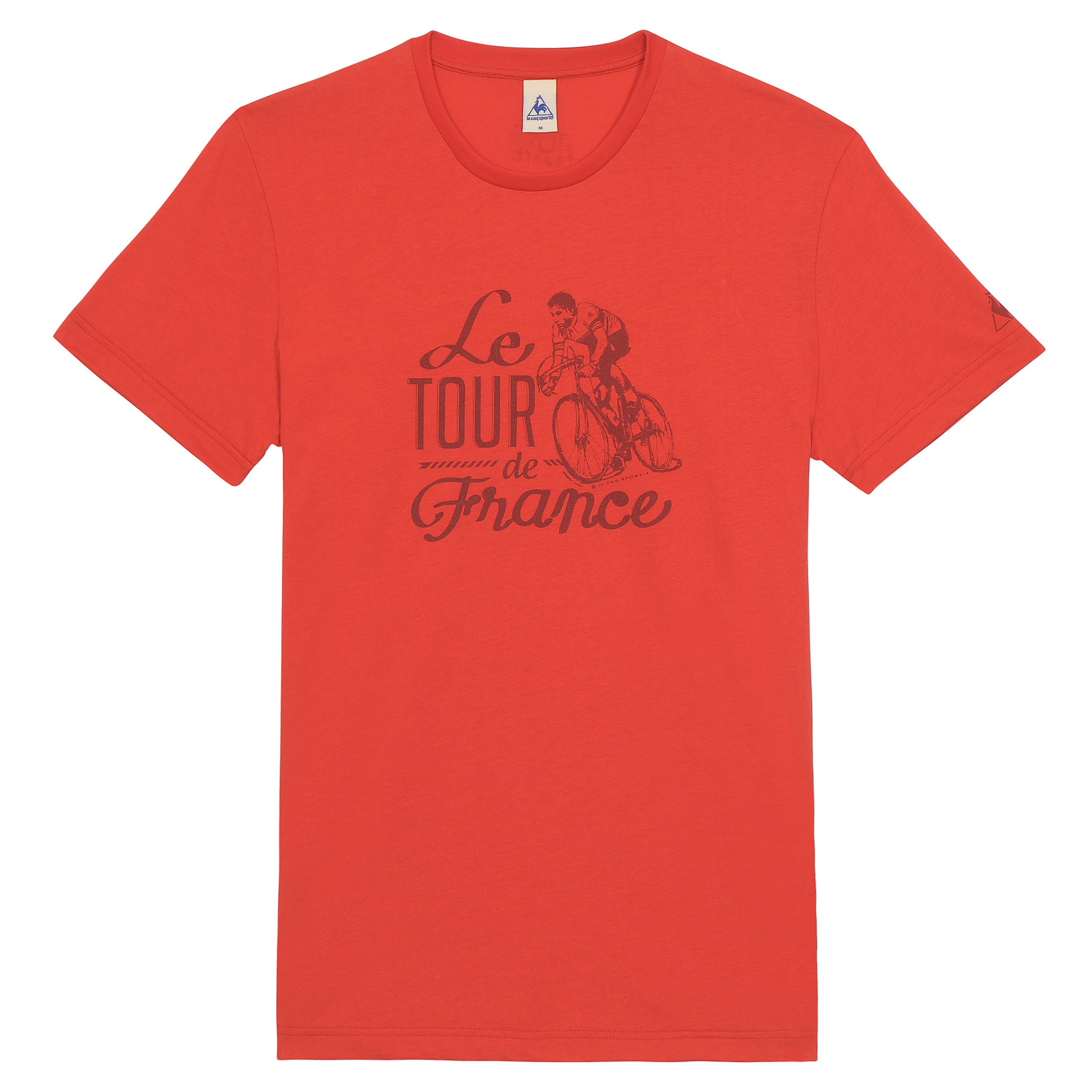 Le Tour de France Le Coq Sportif No 10 T-Shirt - Vintage Red