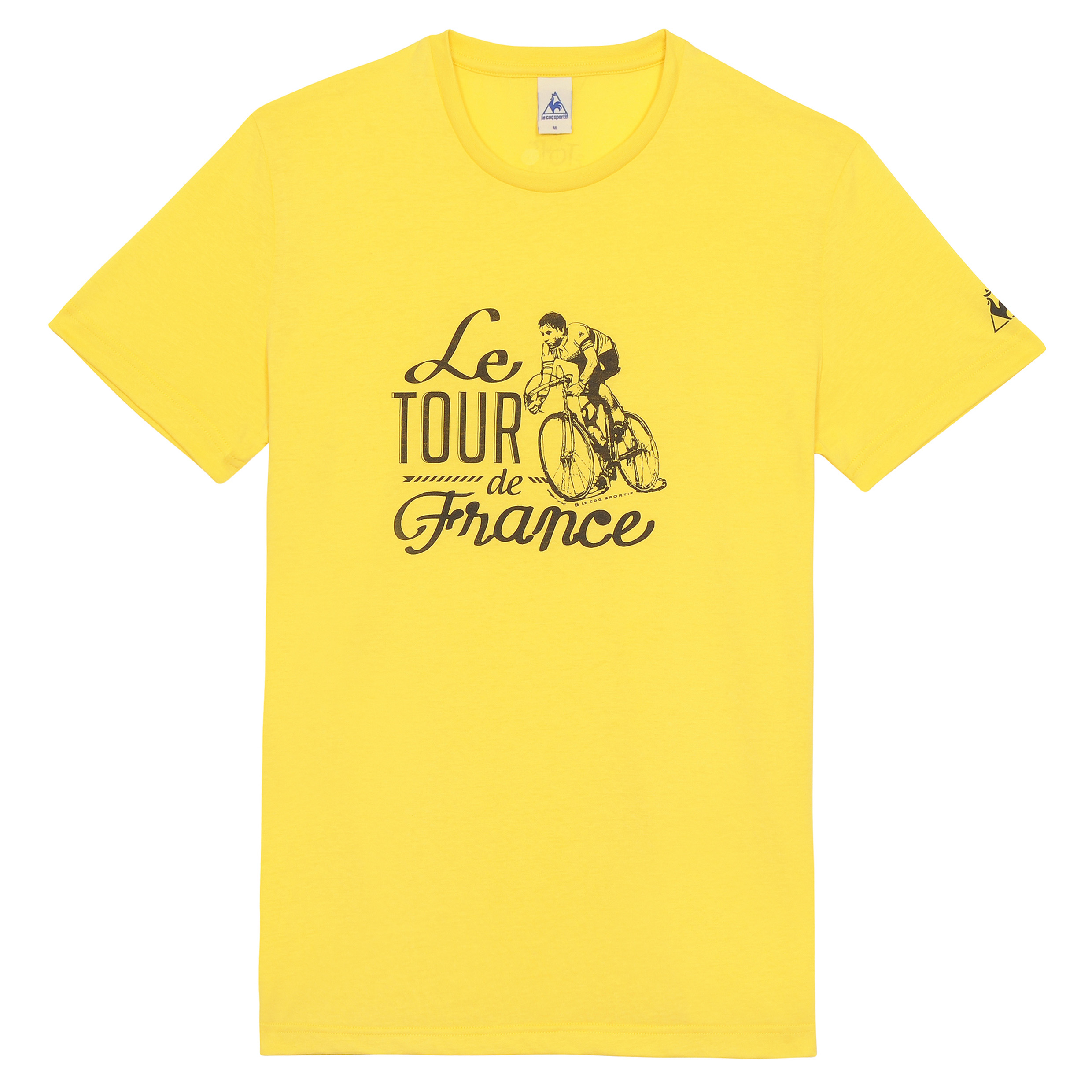 Le Tour de France Le Coq Sportif No 10 T-Shirt - Primrose Yellow