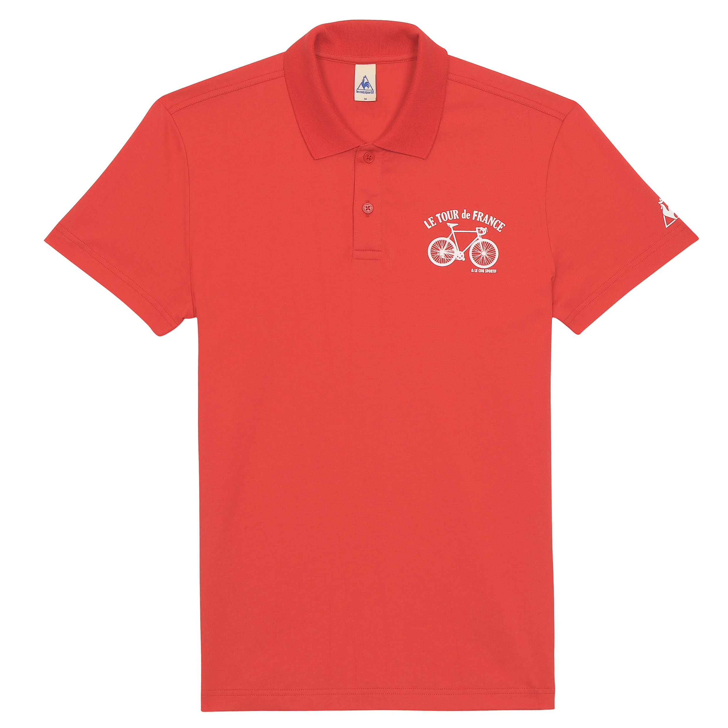 Le Tour de France Le Coq Sportif No 3 Polo - Vintage Red