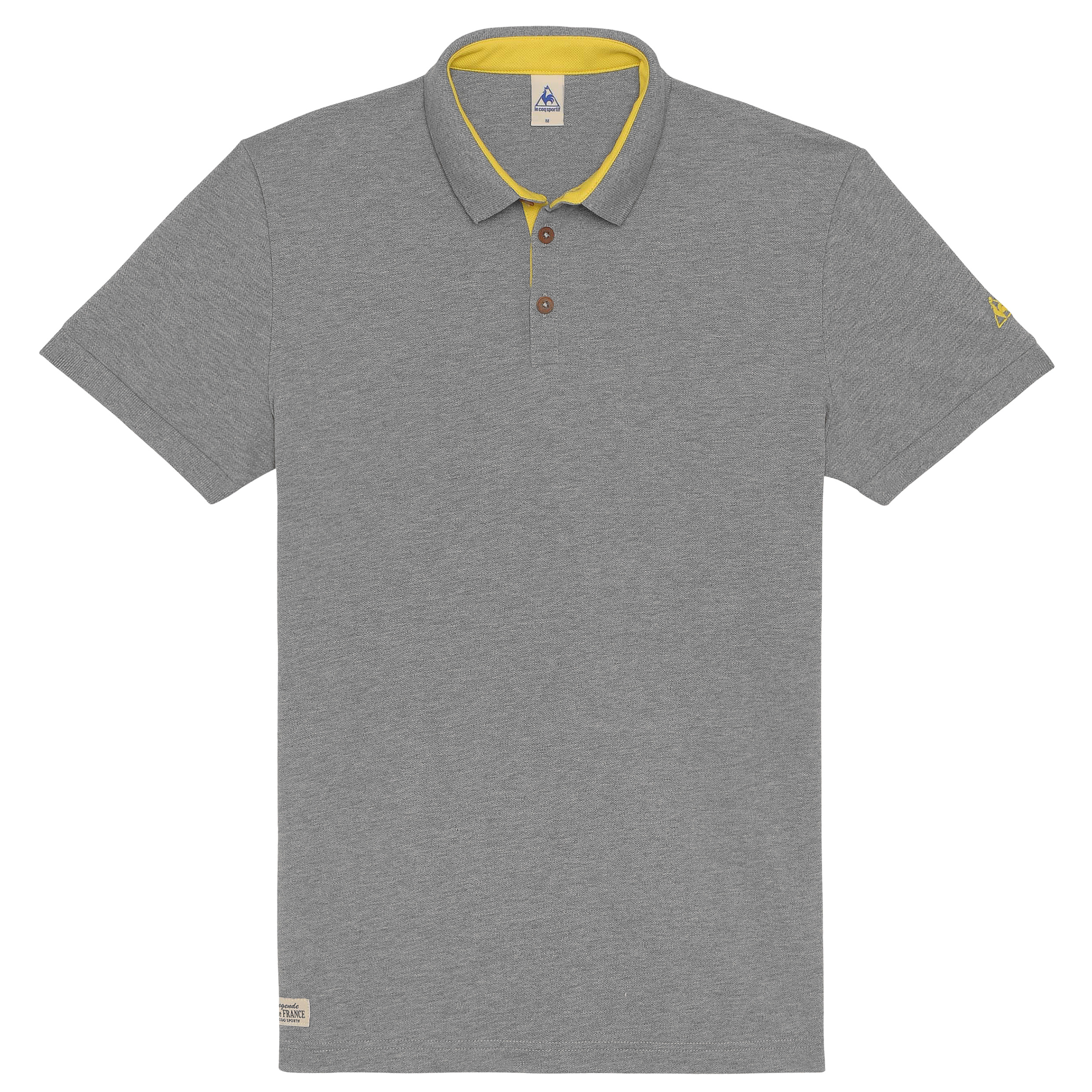 Le Tour de France Le Coq Sportif La Grande Boucle Polo - Light Heather Grey